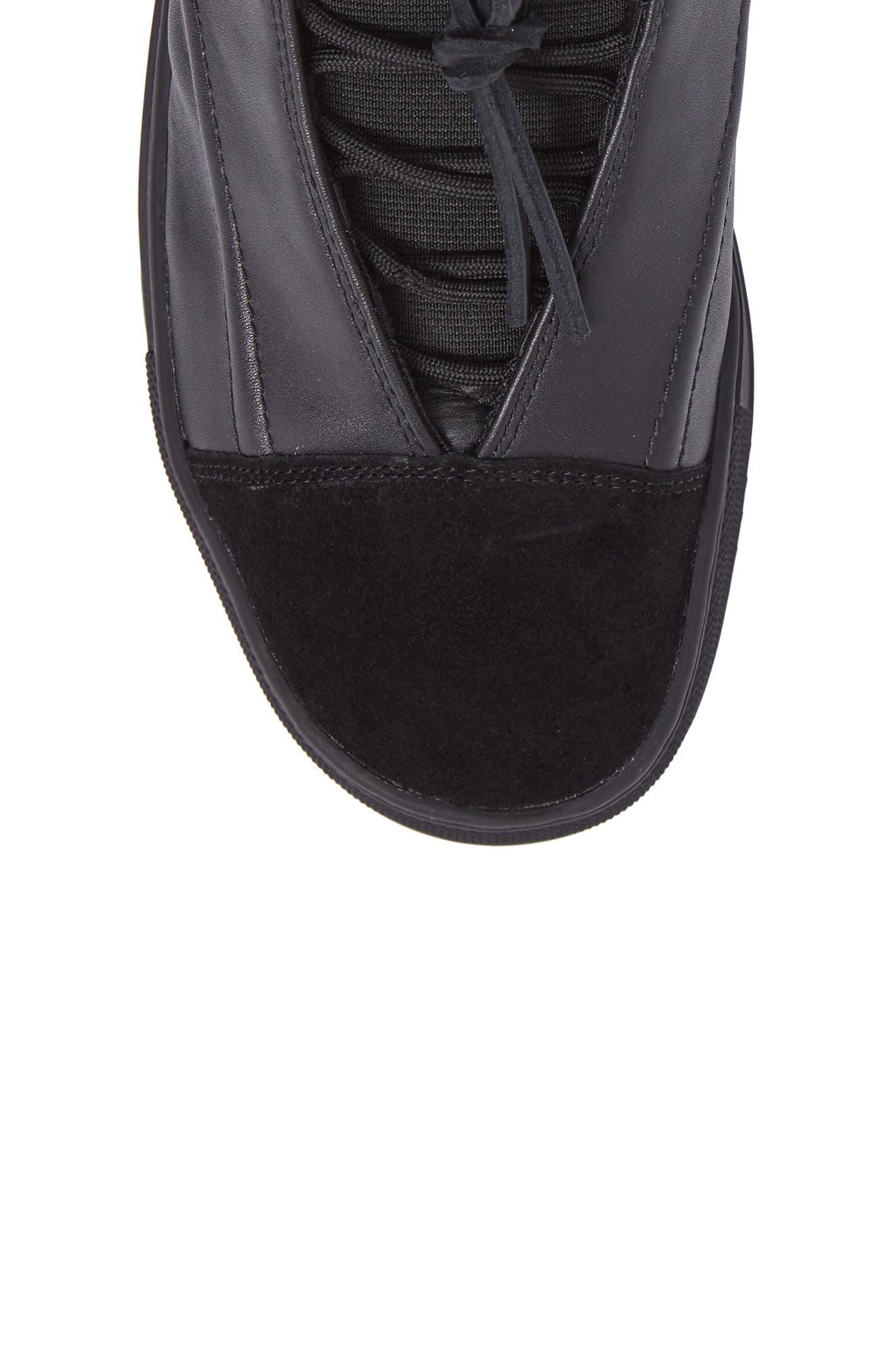 Sidney High Top Sneaker,                             Alternate thumbnail 5, color,                             Black