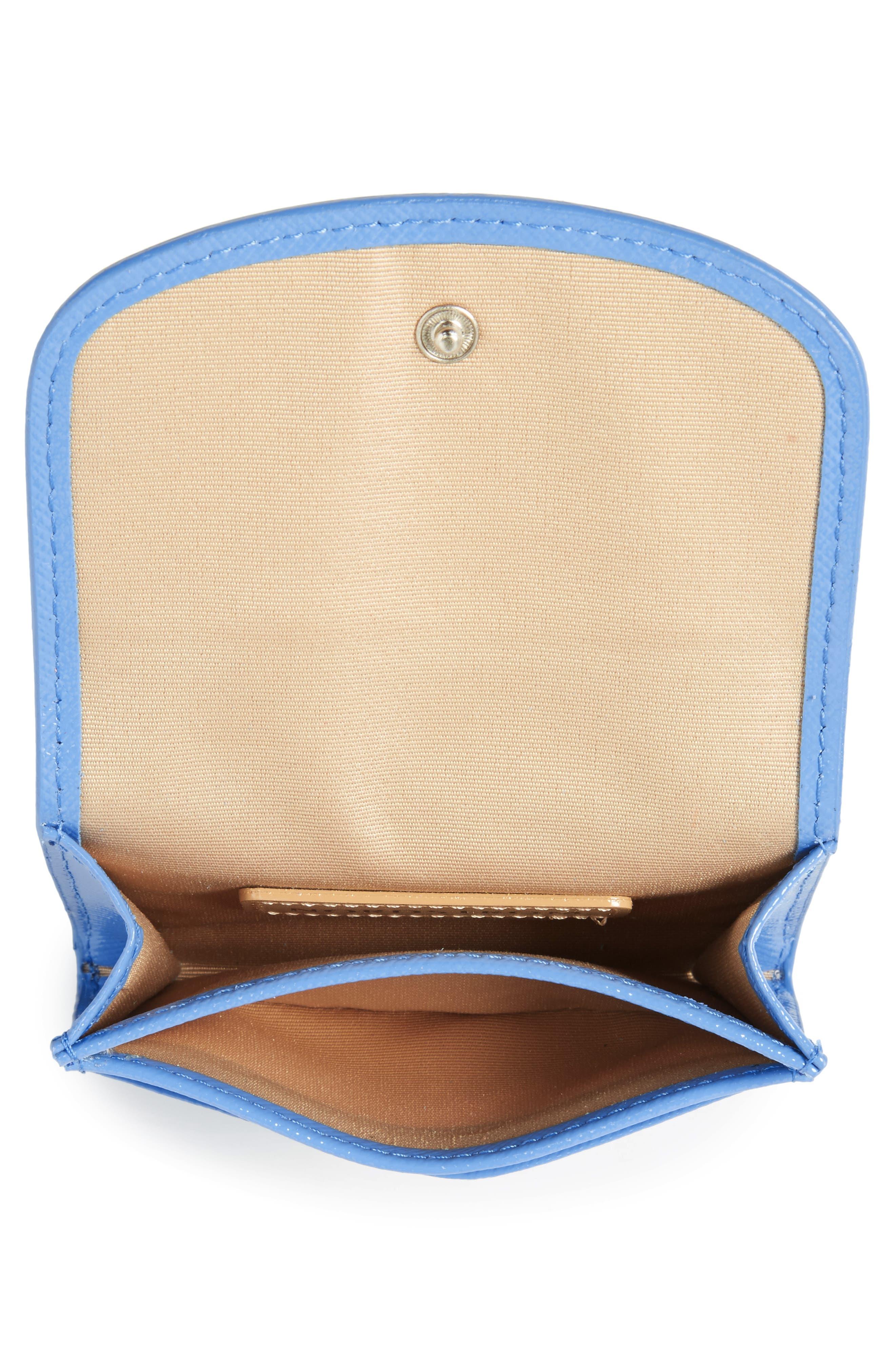 Leather Card Holder,                             Alternate thumbnail 2, color,                             Blue Regatta
