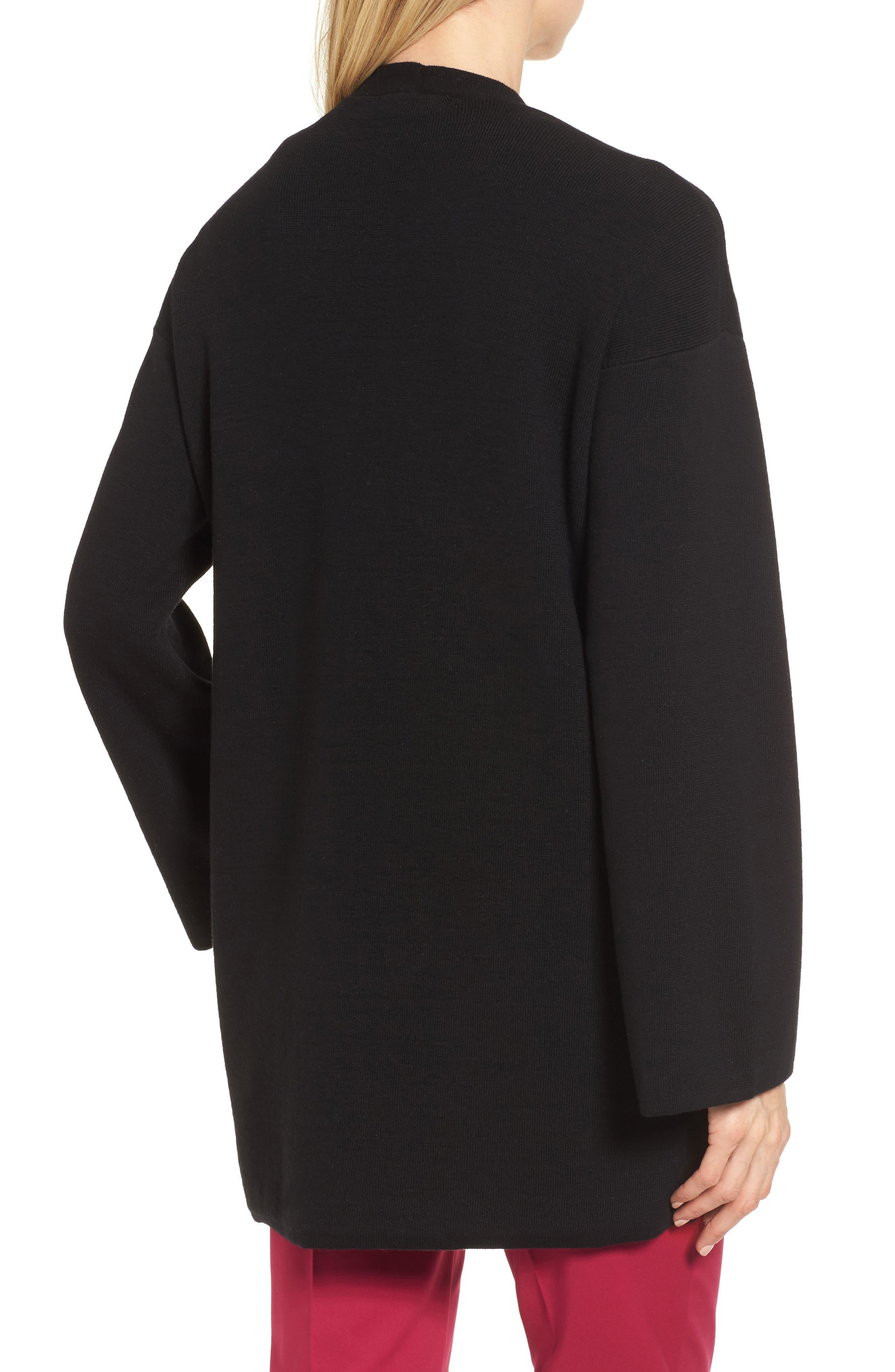 Long Sleeve Beaded Cardigan,                             Alternate thumbnail 2, color,                             Rich Black
