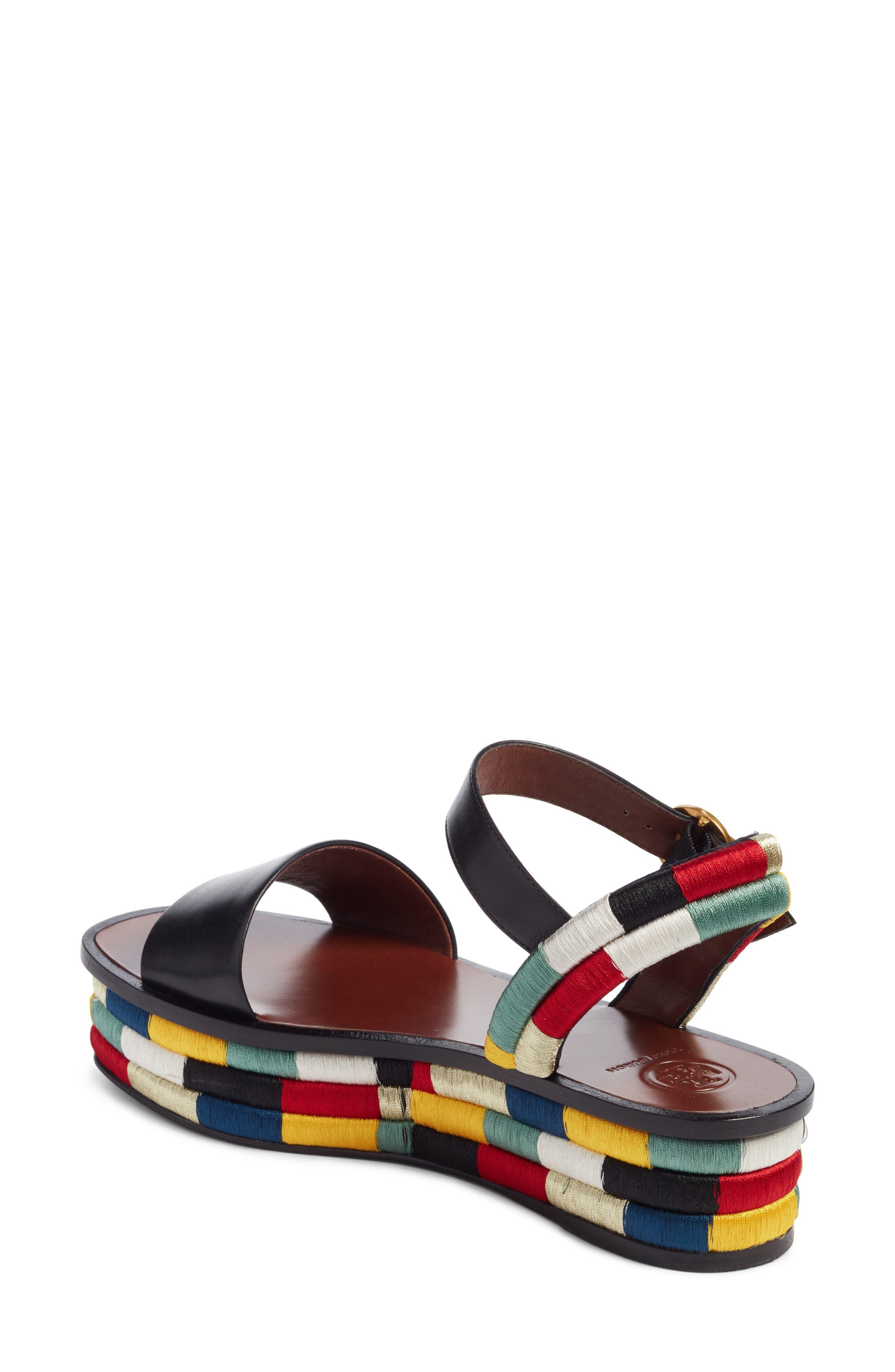 Camilla Platform Sandal,                             Alternate thumbnail 3, color,                             Black