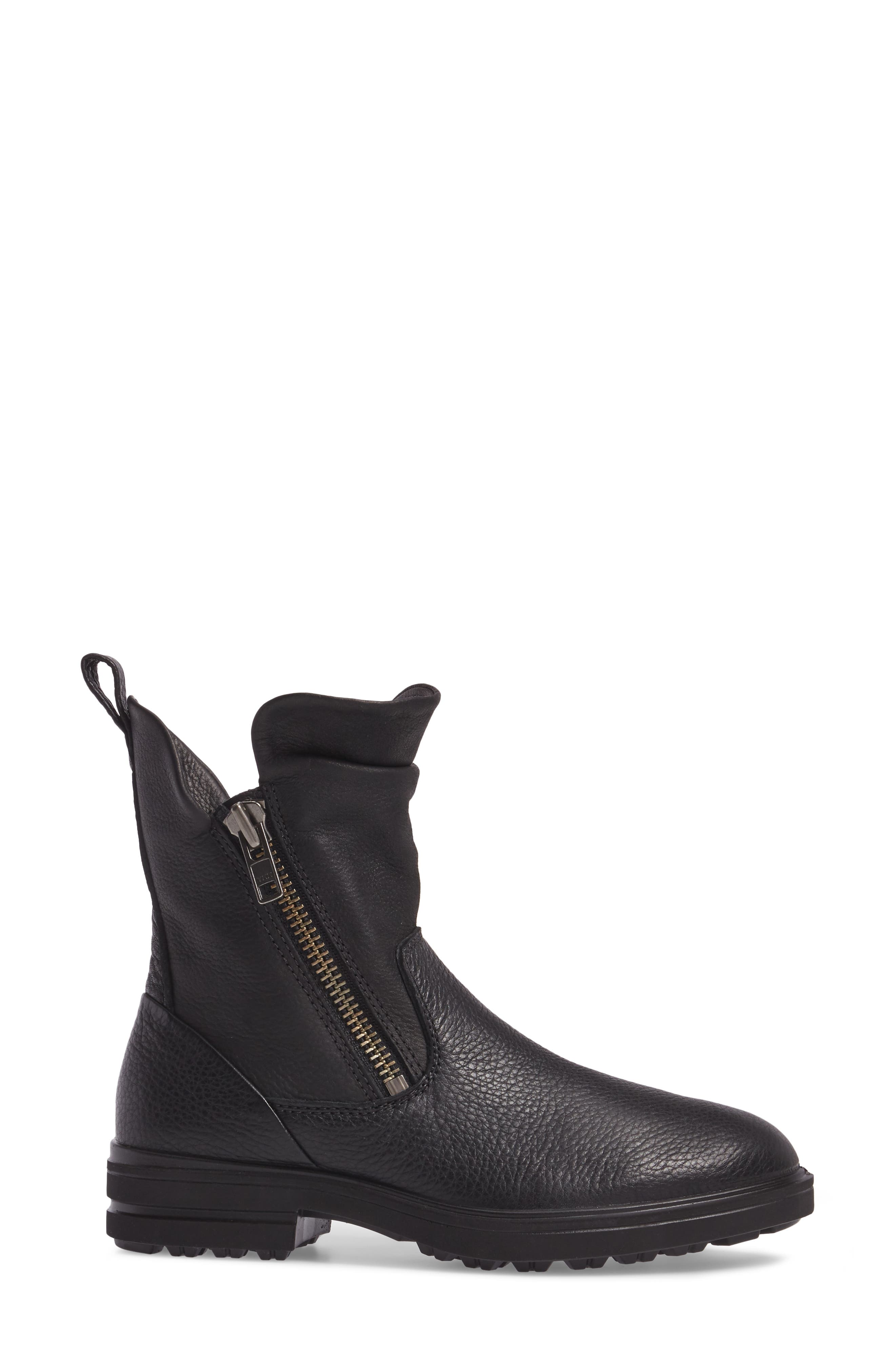 Zoe Mid Boot,                             Alternate thumbnail 3, color,                             Black Leather
