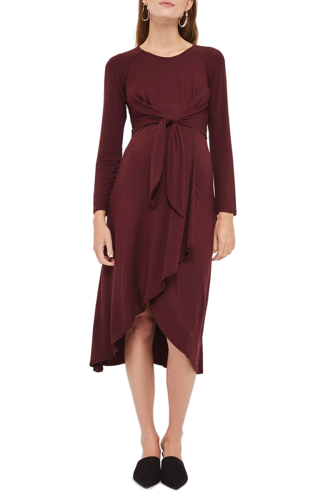 Topshop Knot Front Maternity Dress