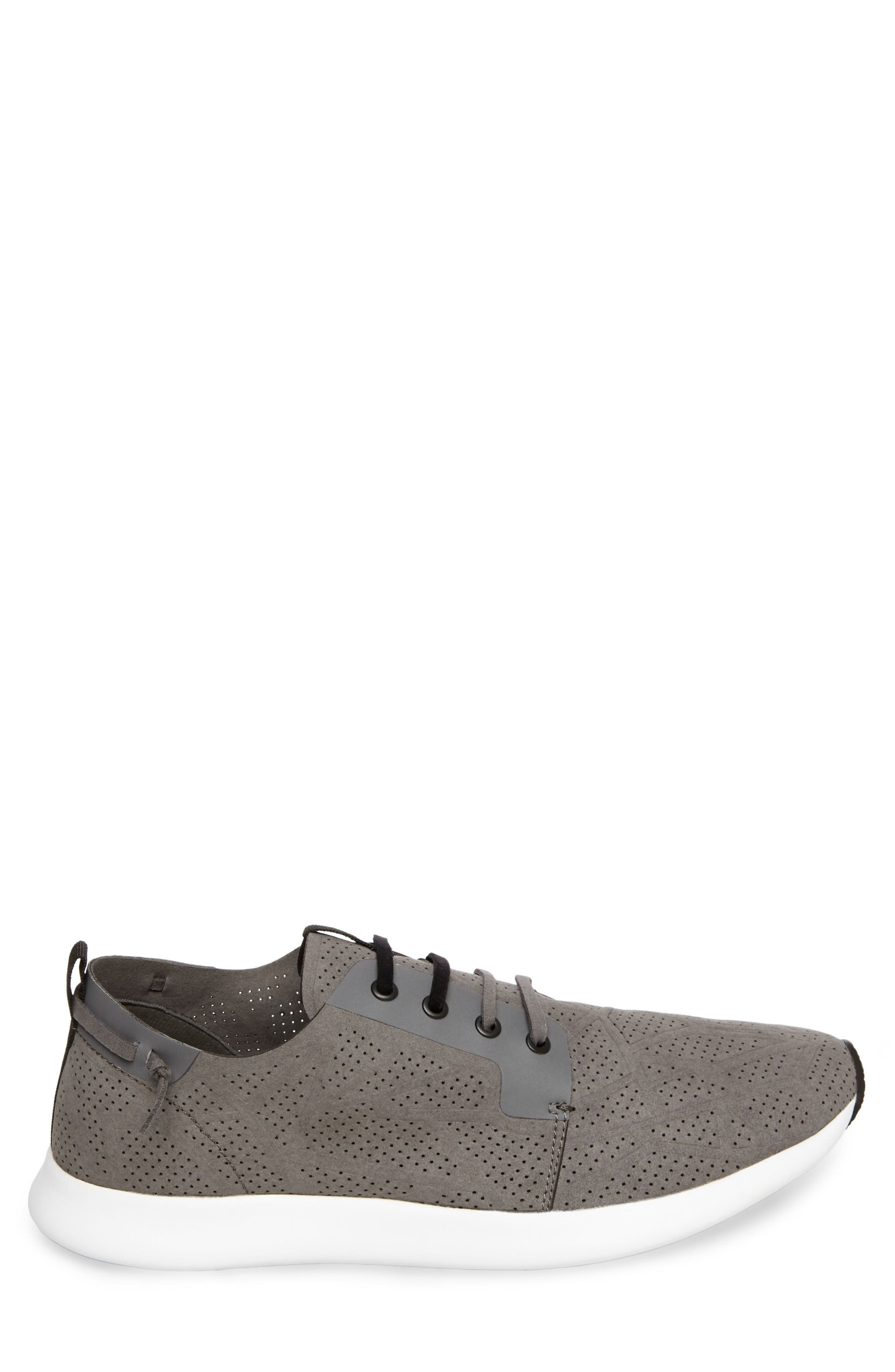 Batali Perforated Sneaker,                             Alternate thumbnail 3, color,                             Grey