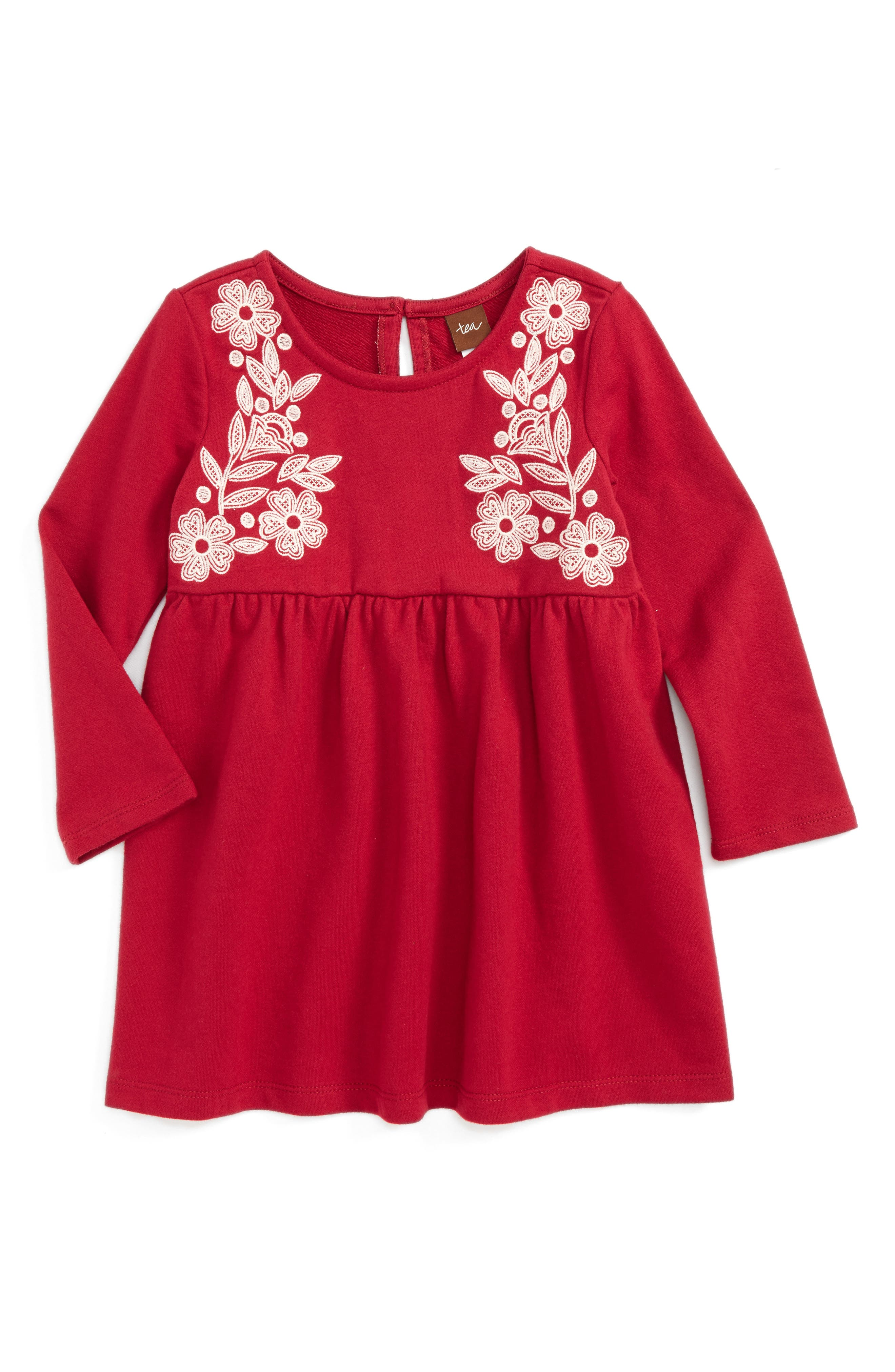 Main Image - Tea Collection Ailsa Embroidered Dress (Baby Girls)