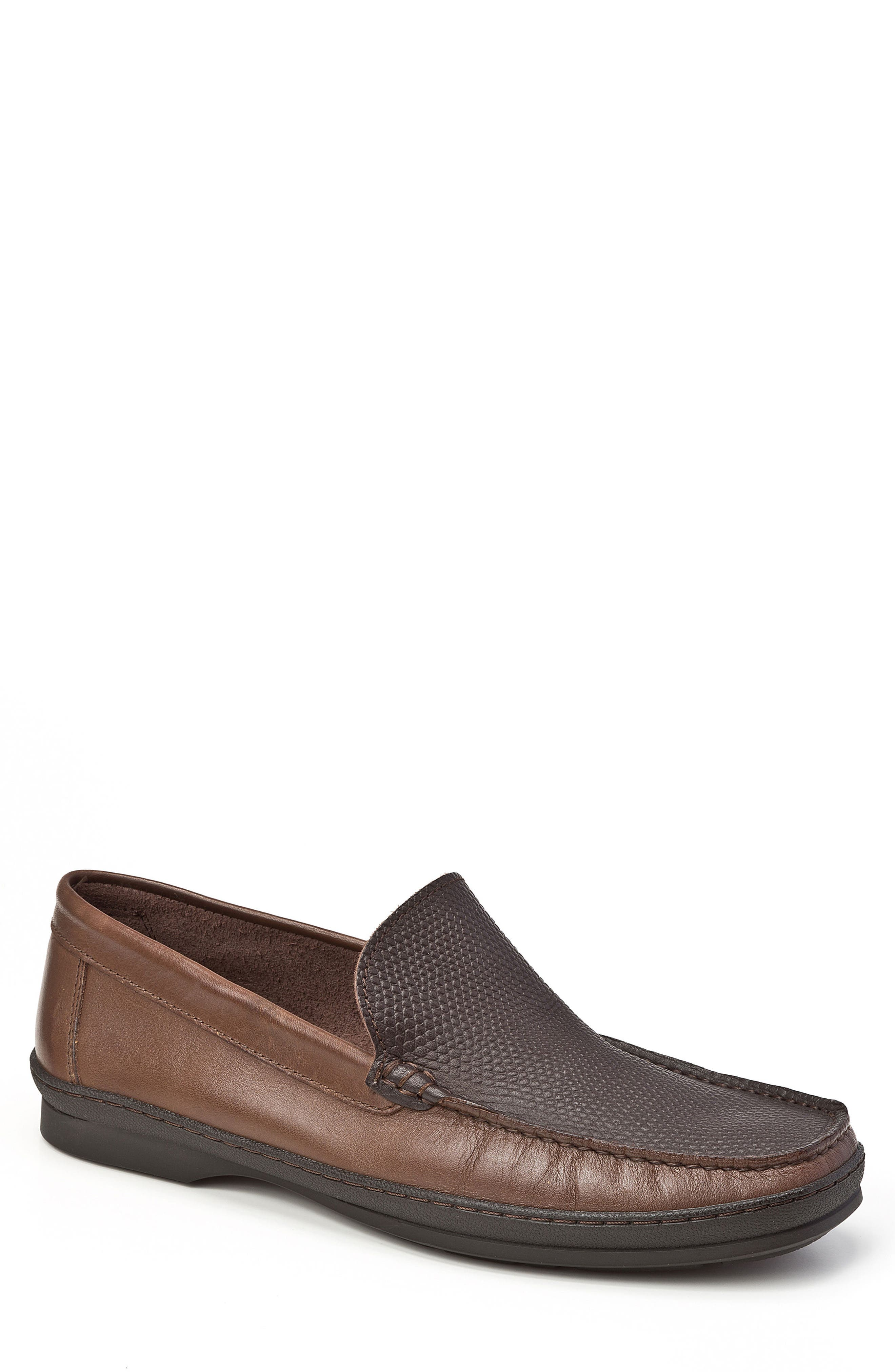 Main Image - Sandro Moscoloni Torre Pebble Embossed Loafer (Men)