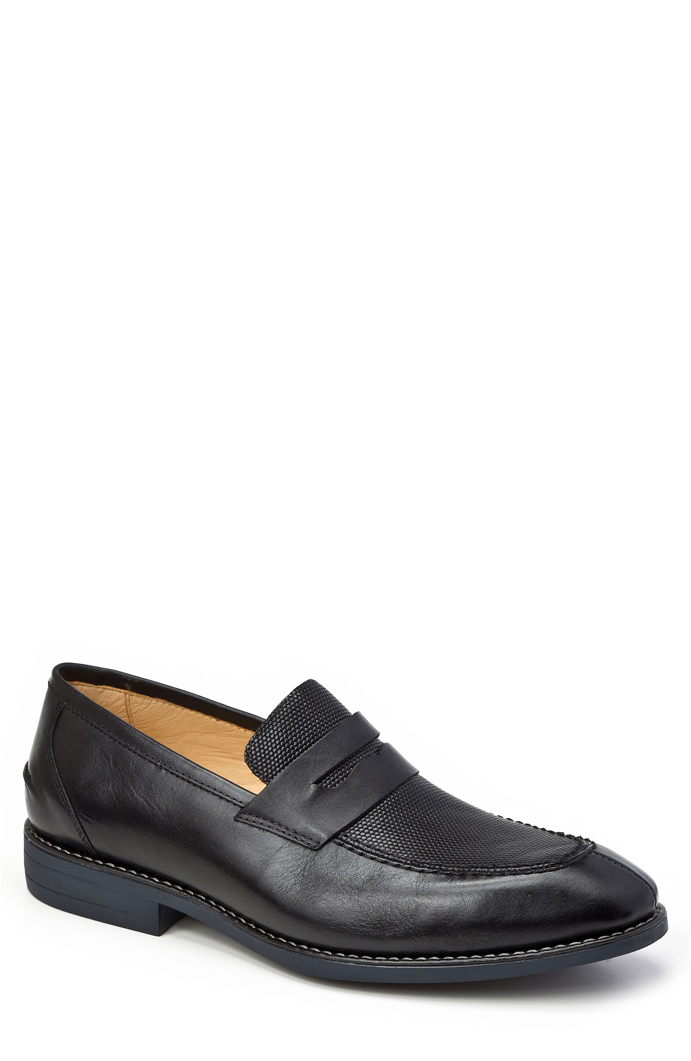 Maestro Penny Loafer,                         Main,                         color, Black Leather