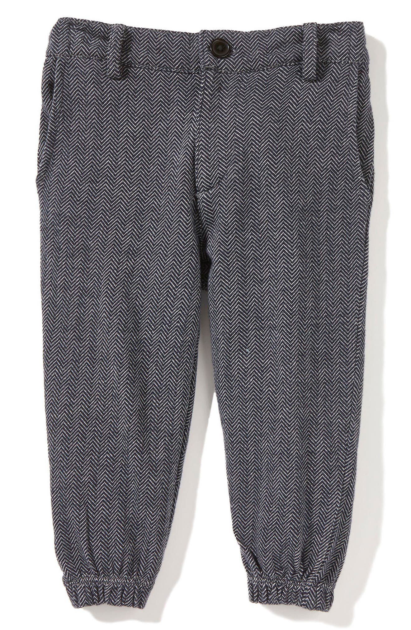 Peek Herringbone Jogger Pants (Baby Boys)