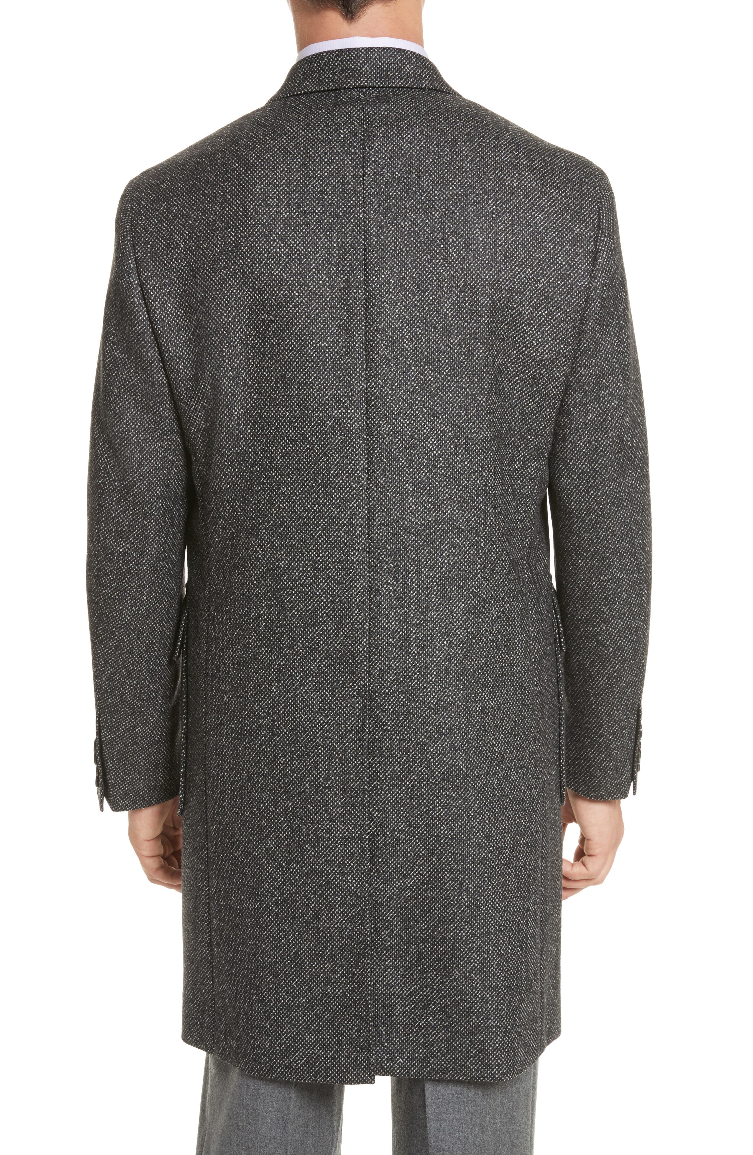 Alternate Image 2  - Canali Classic Fit Wool Topcoat