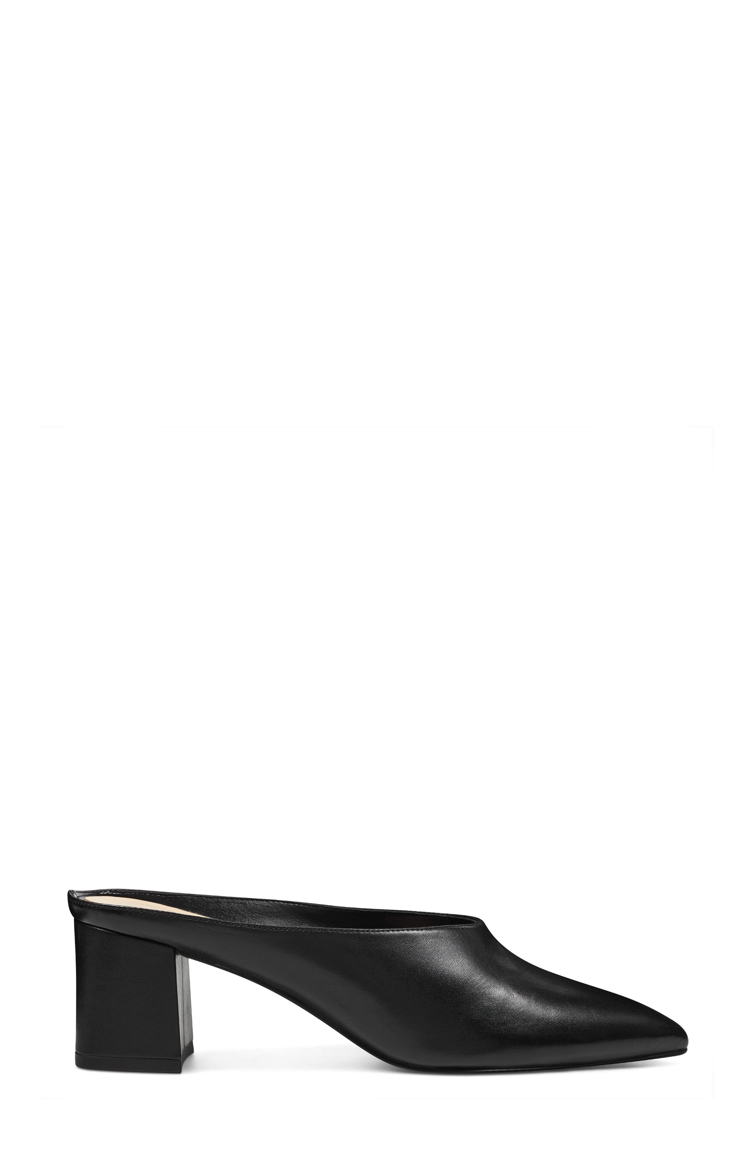 Helmer Mule,                             Alternate thumbnail 3, color,                             Black Leather