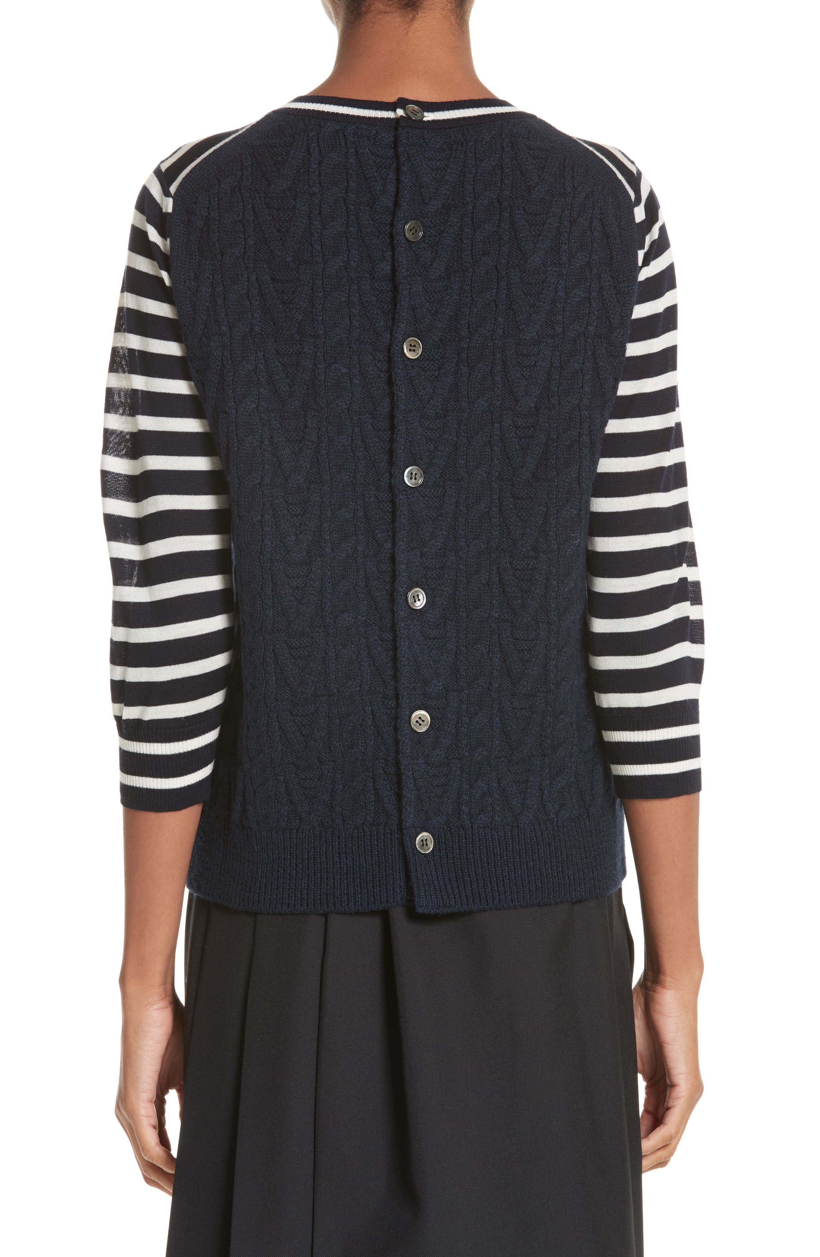 Alternate Image 2  - Tricot Comme des Garçons Button Back Stripe Sweater