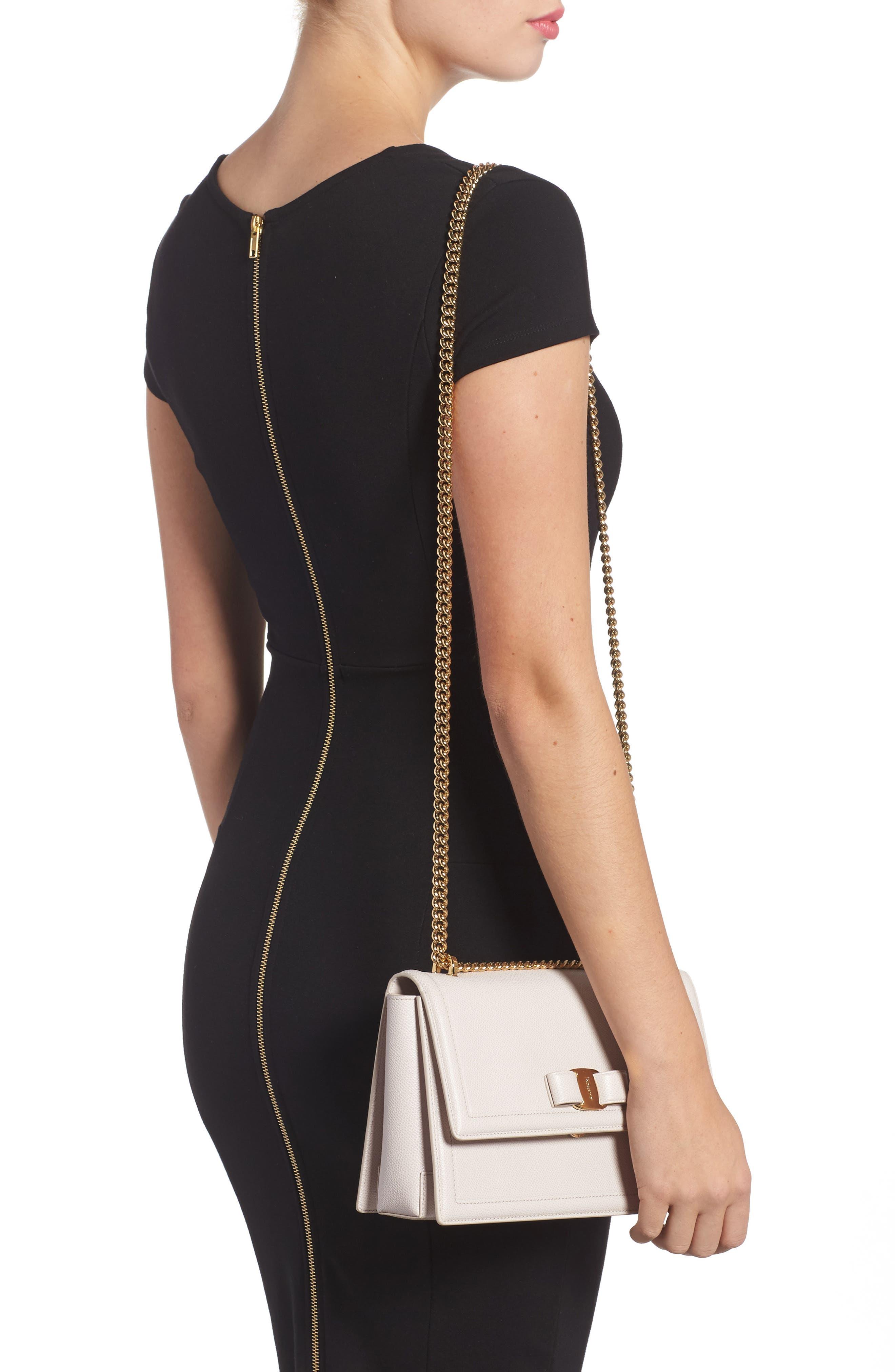 Medium Ginny Leather Shoulder Bag,                             Alternate thumbnail 2, color,                             Jasmine Flower