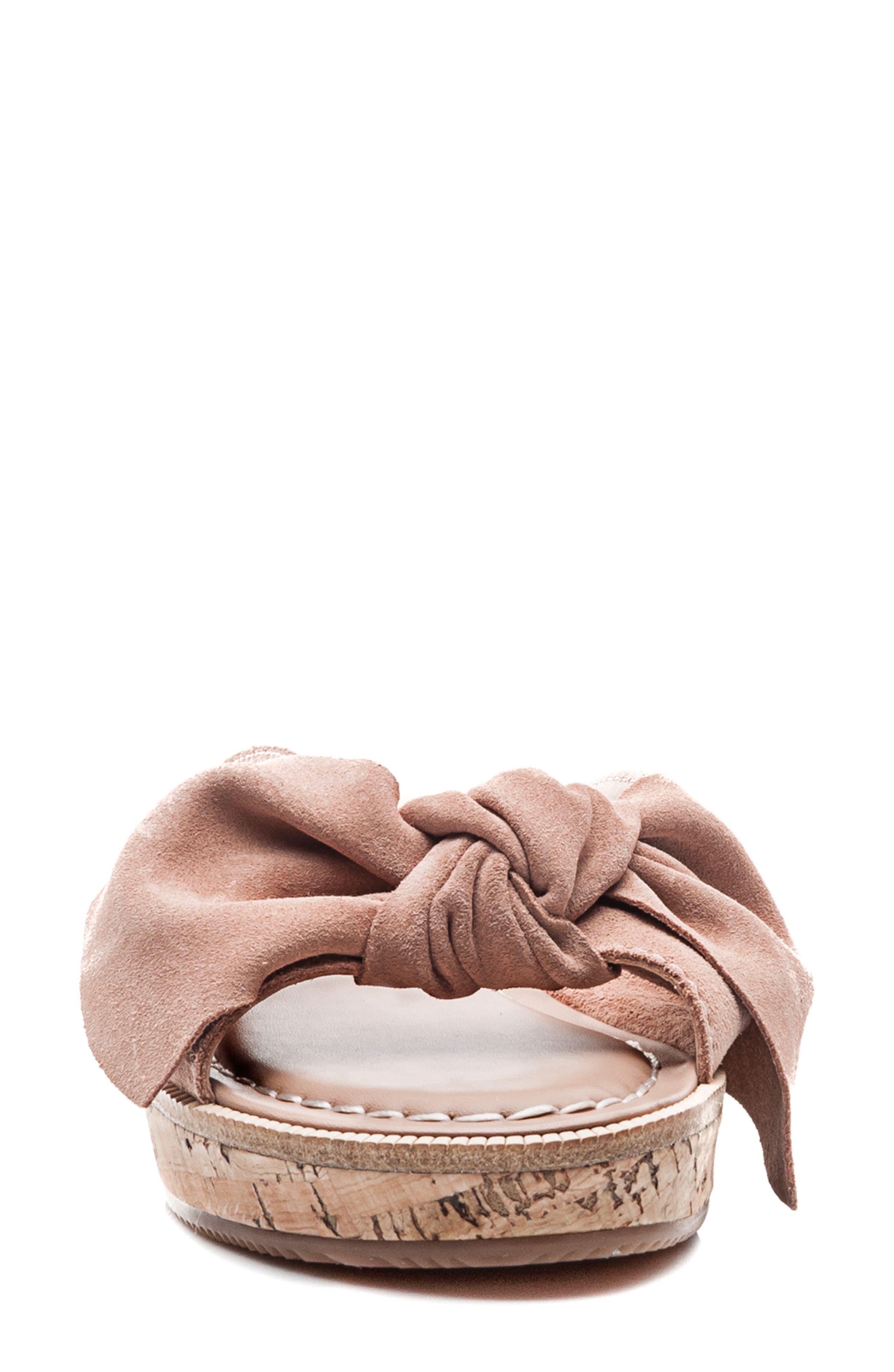 Bernardo Petra Slide Sandal,                             Alternate thumbnail 4, color,                             Blush Leather