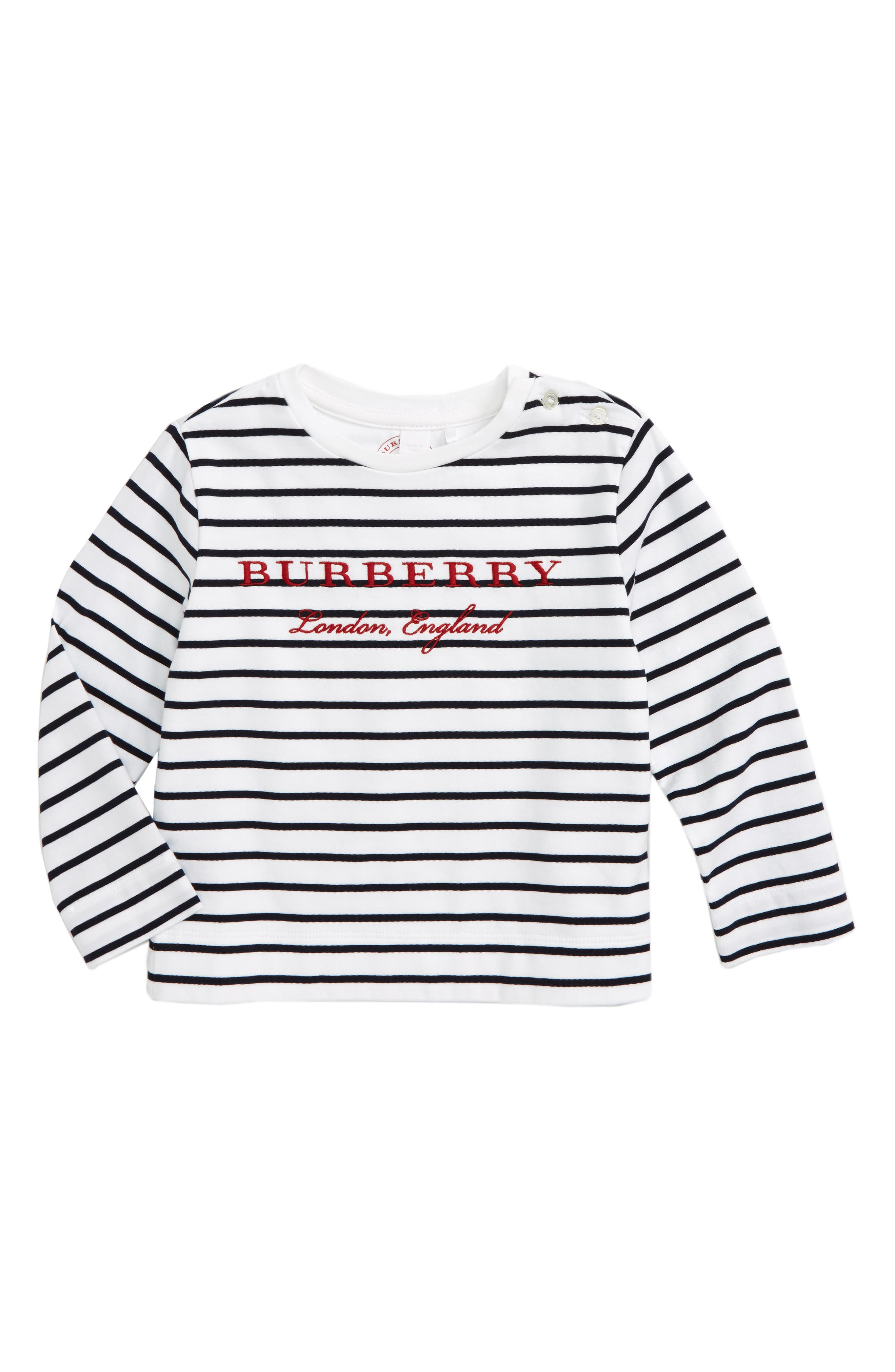 Mini Peggy Embroidered Tee,                         Main,                         color, Navy/ White