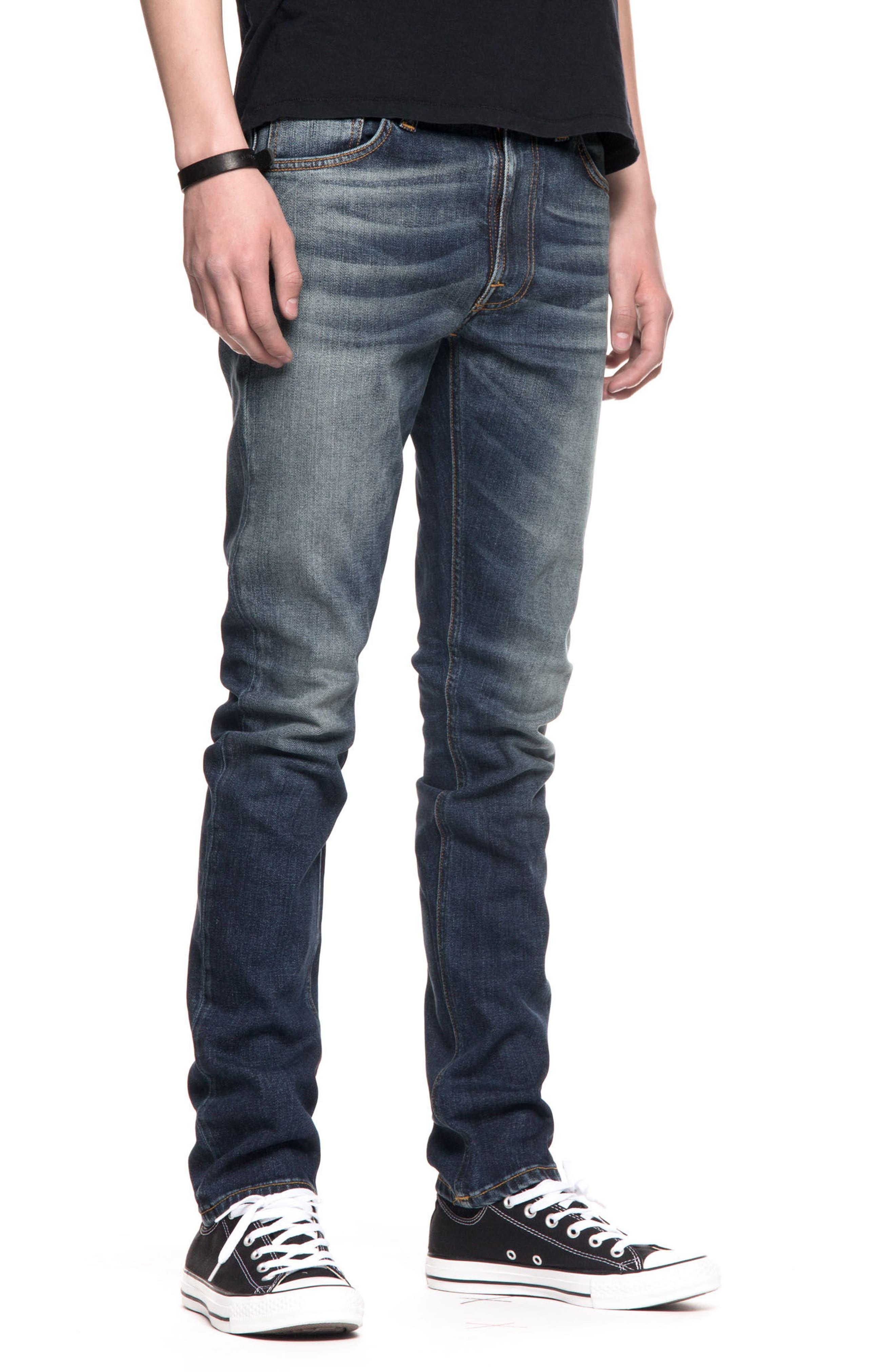 Lean Dean Slouchy Slim Fit Jeans,                             Alternate thumbnail 4, color,                             Crispy Bora