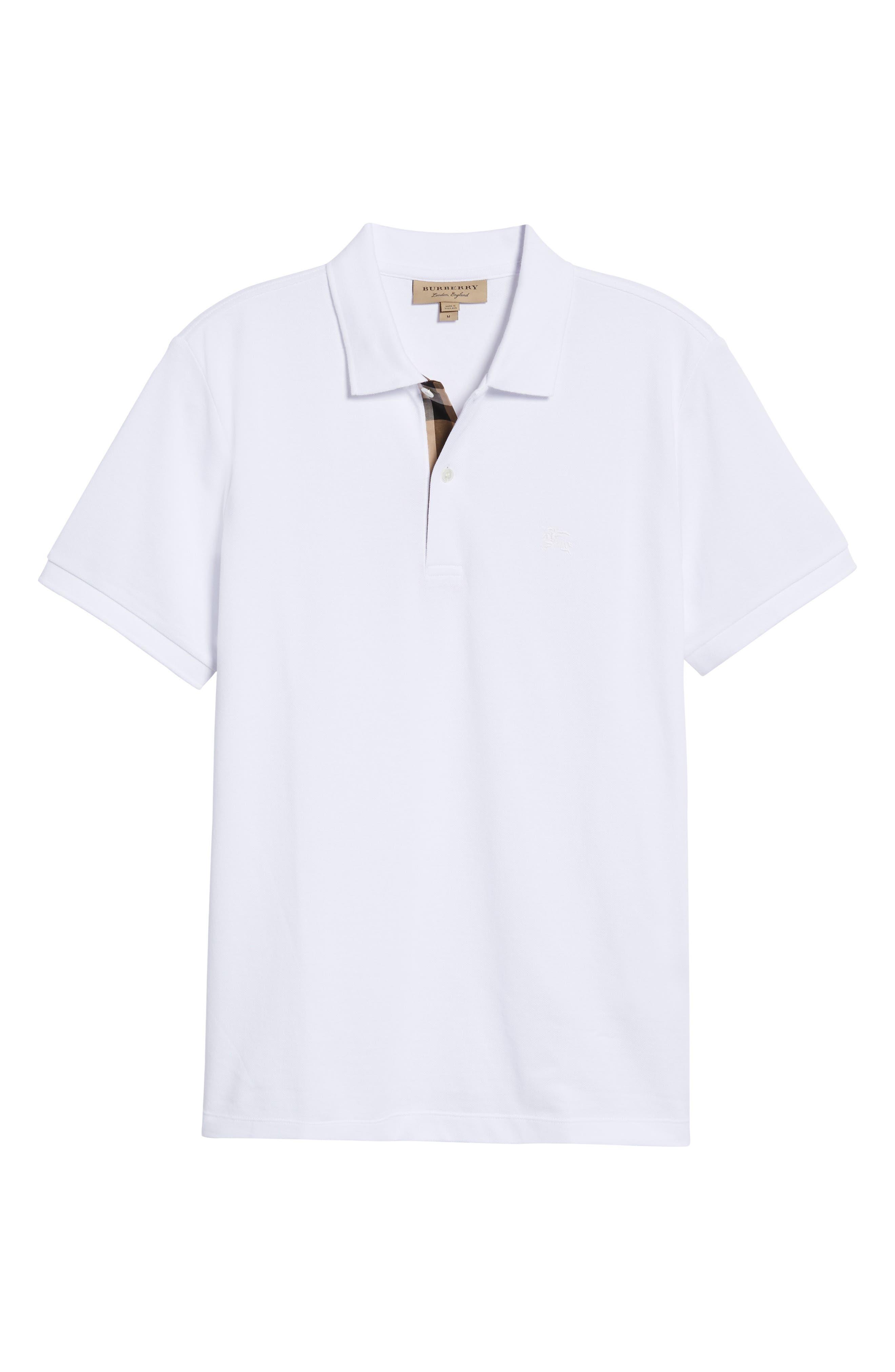 Piqué Polo,                             Alternate thumbnail 6, color,                             White