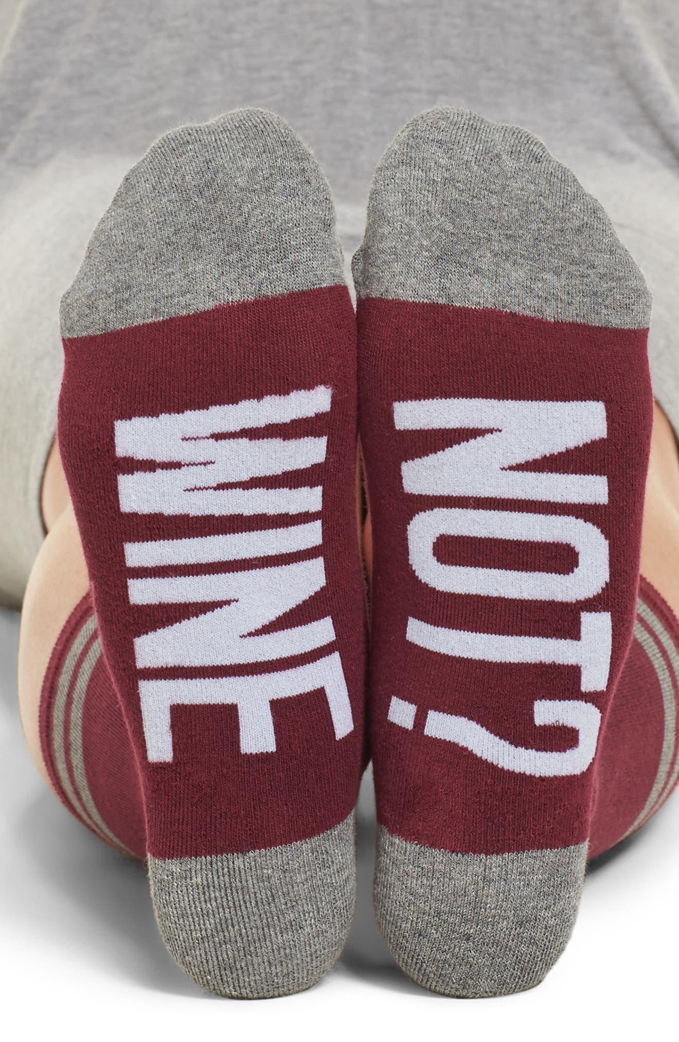 SOCKART Wine Not? Crew Socks