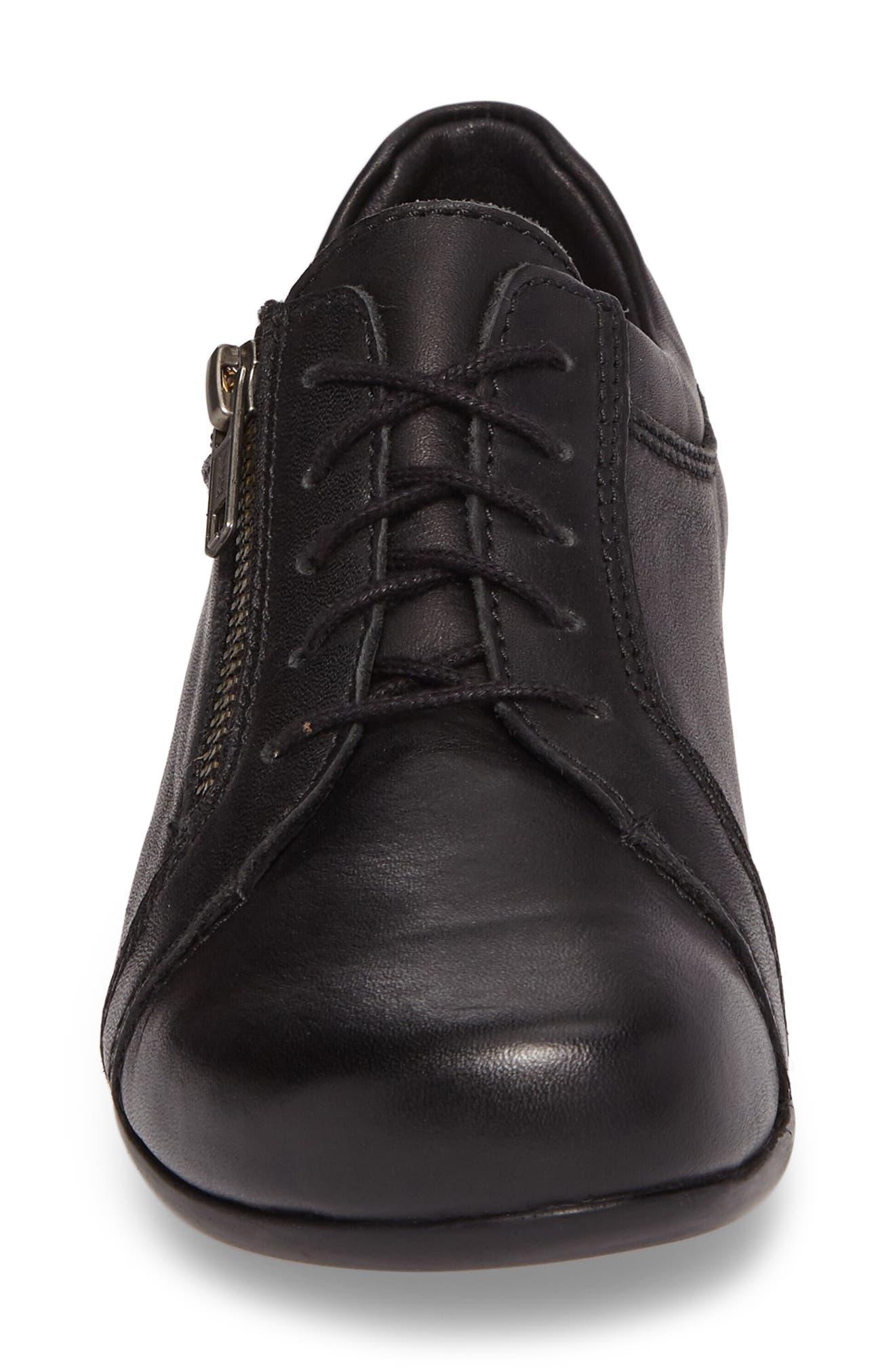 Bonnie Sneaker,                             Alternate thumbnail 4, color,                             Black Leather