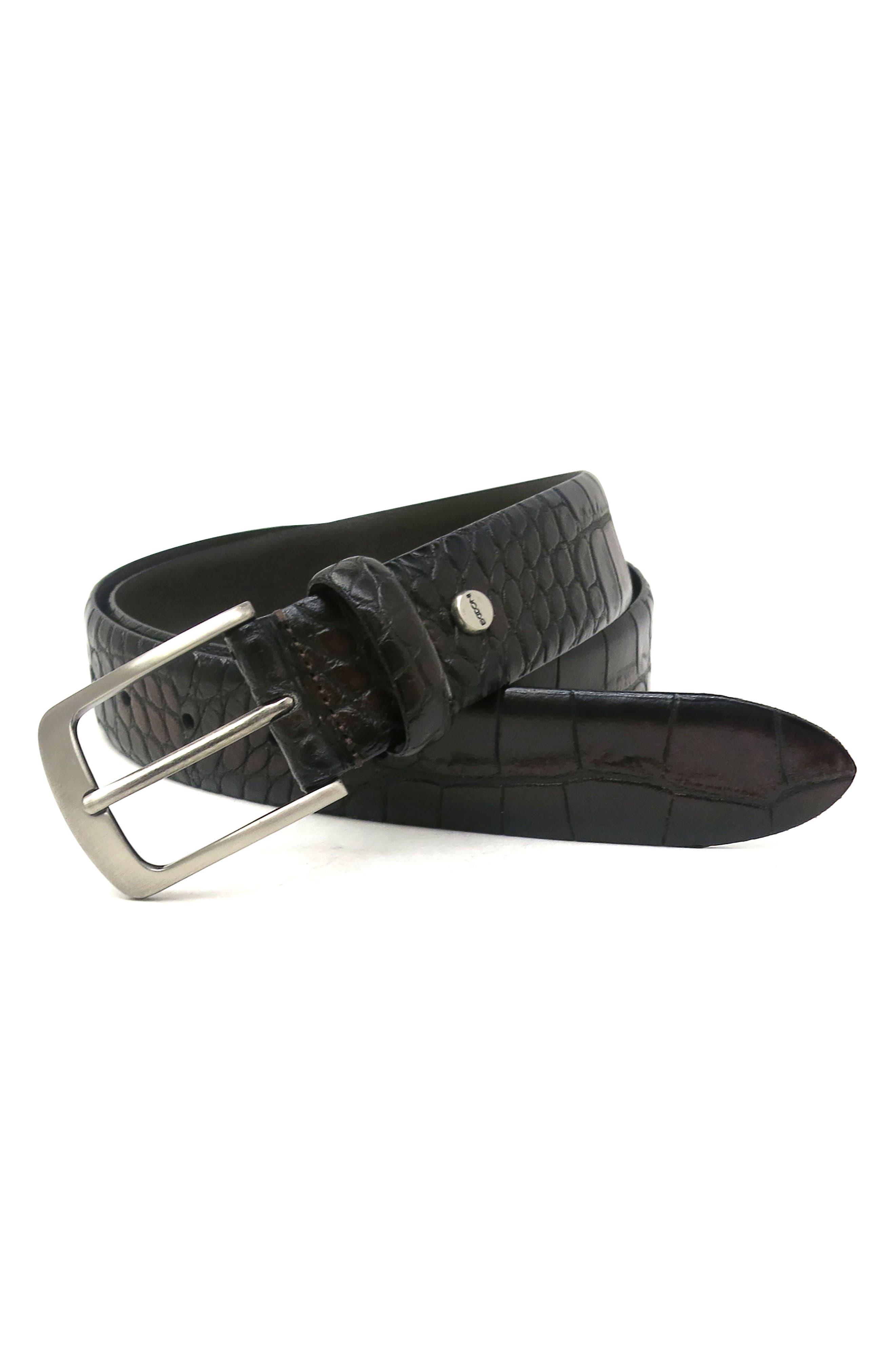 Alternate Image 2  - Boconi Croc Embossed Leather Belt