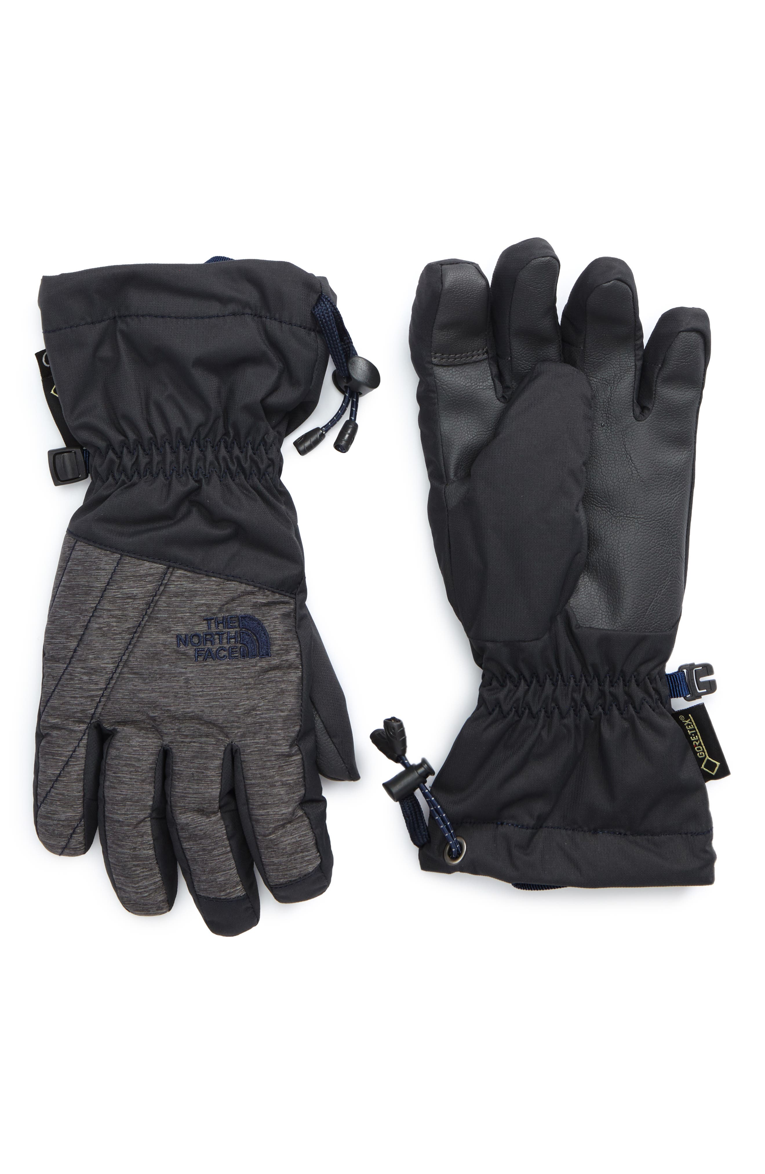Montana Gore-Tex<sup>®</sup> Waterproof Gloves,                         Main,                         color, Graphite Grey/ Cosmic Blue