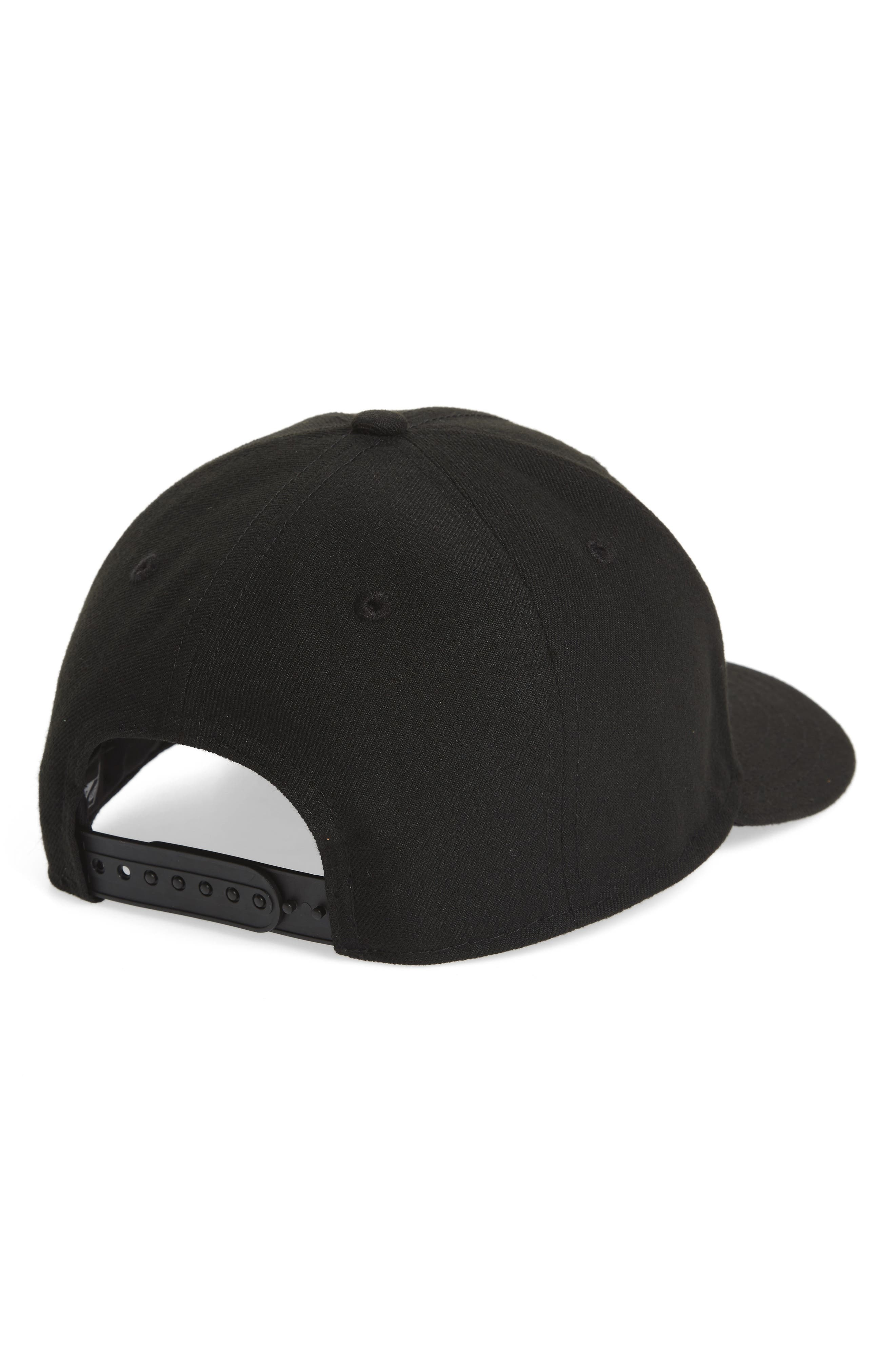 Core Snapback Baseball Cap,                             Alternate thumbnail 2, color,                             Black