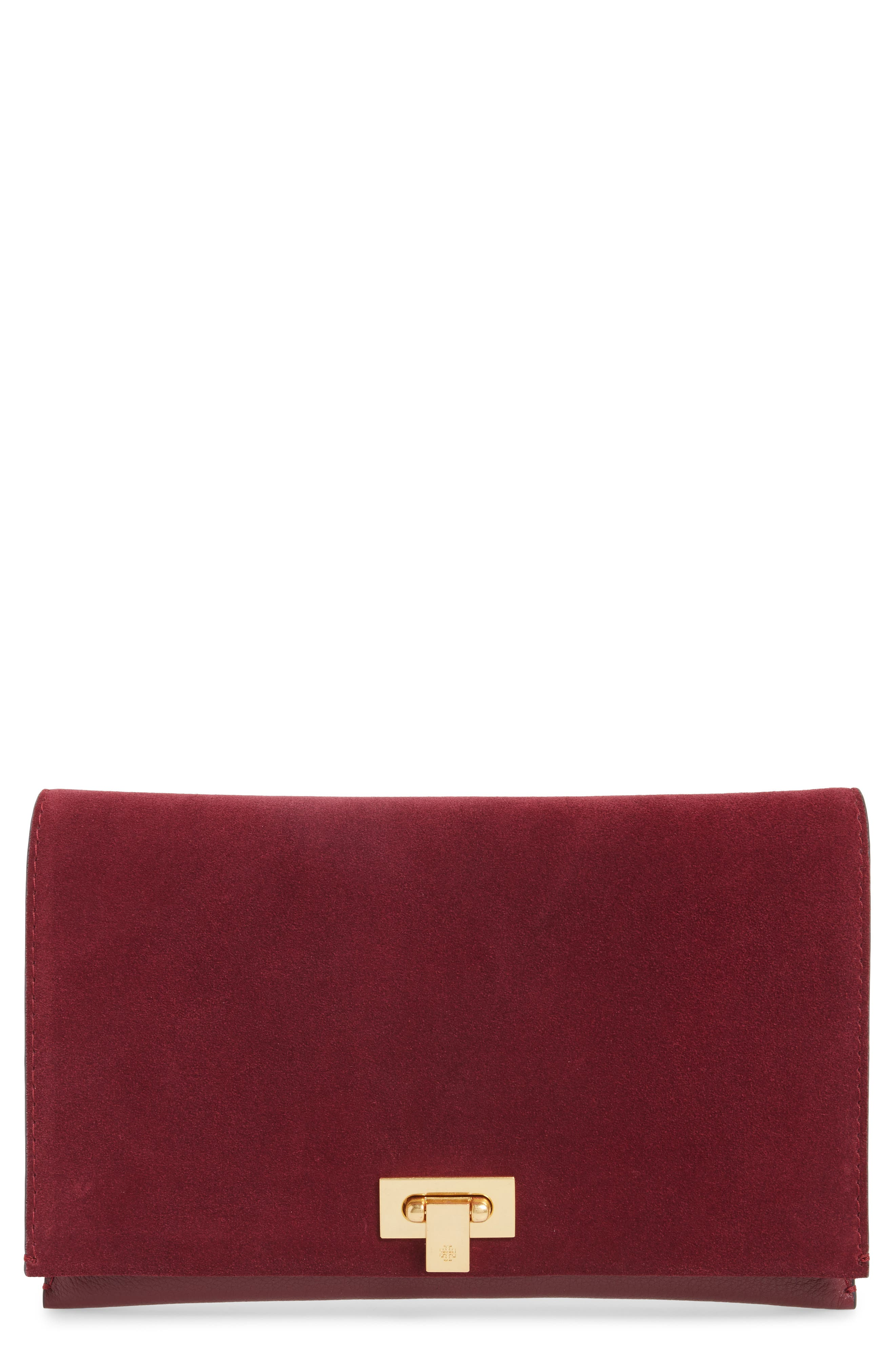 Alternate Image 1 Selected - Tory Burch Carmen Leather Clutch
