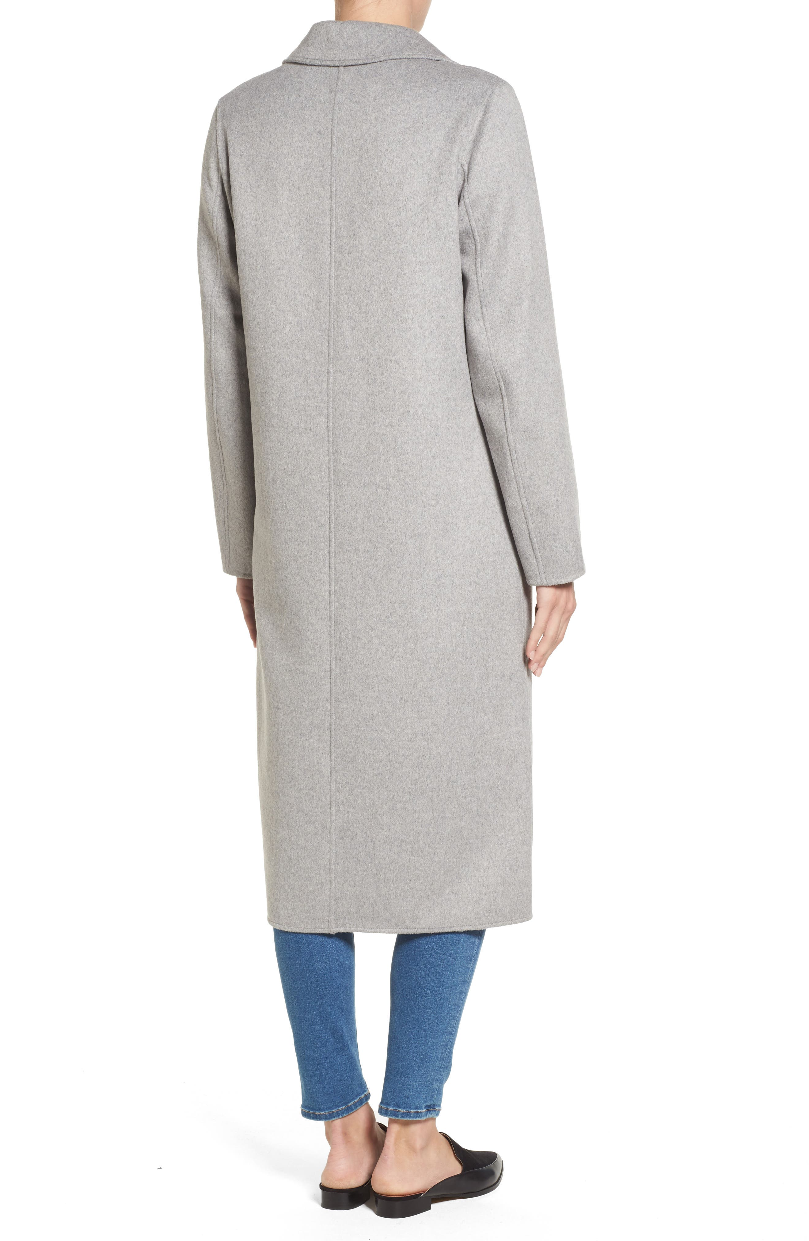 Alternate Image 2  - Kenneth Cole New York Double Face Wool Blend Long Coat