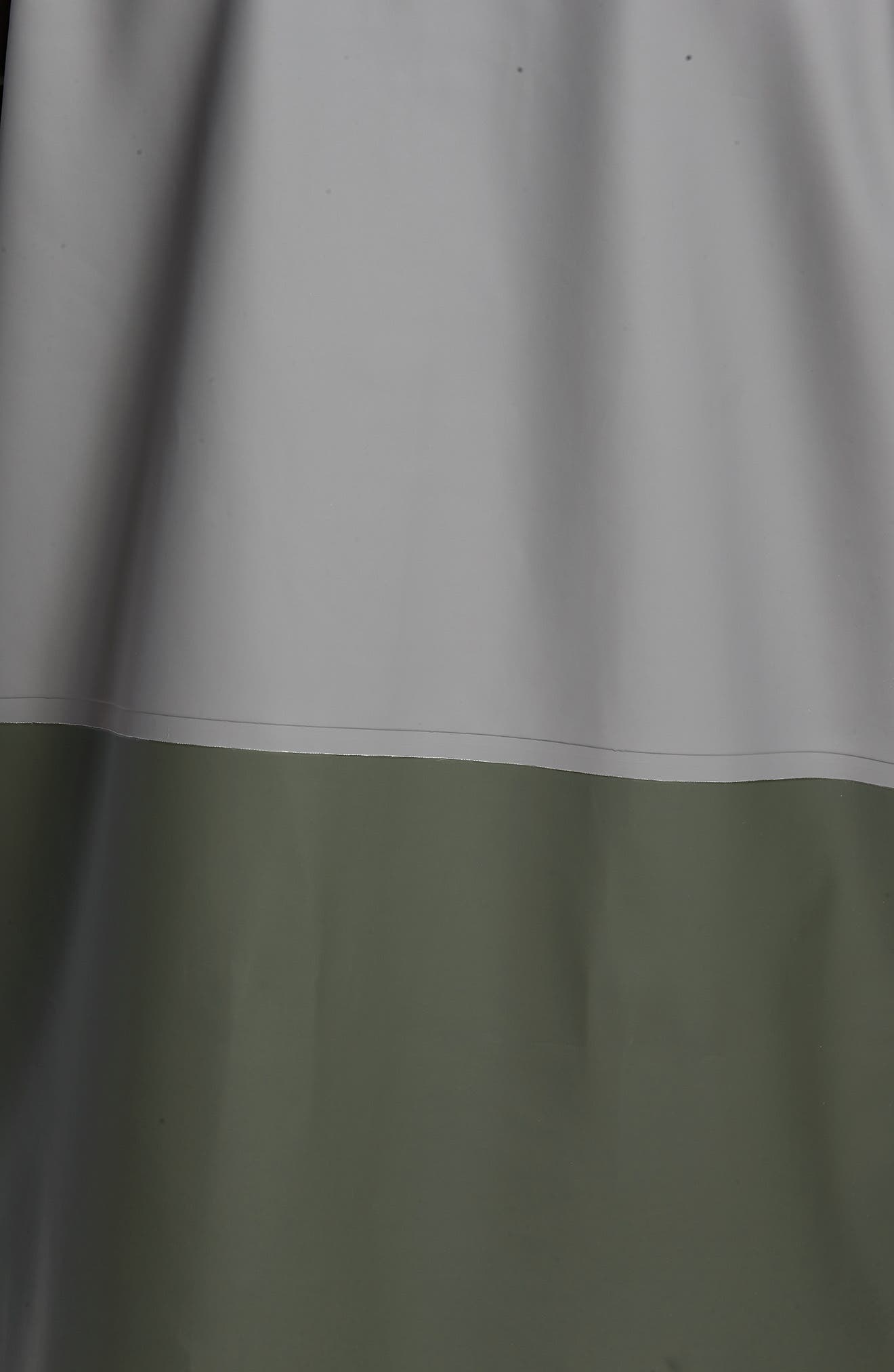Stockholm Colorblock Waterproof Hooded Raincoat,                             Alternate thumbnail 5, color,                             Grey/ Green