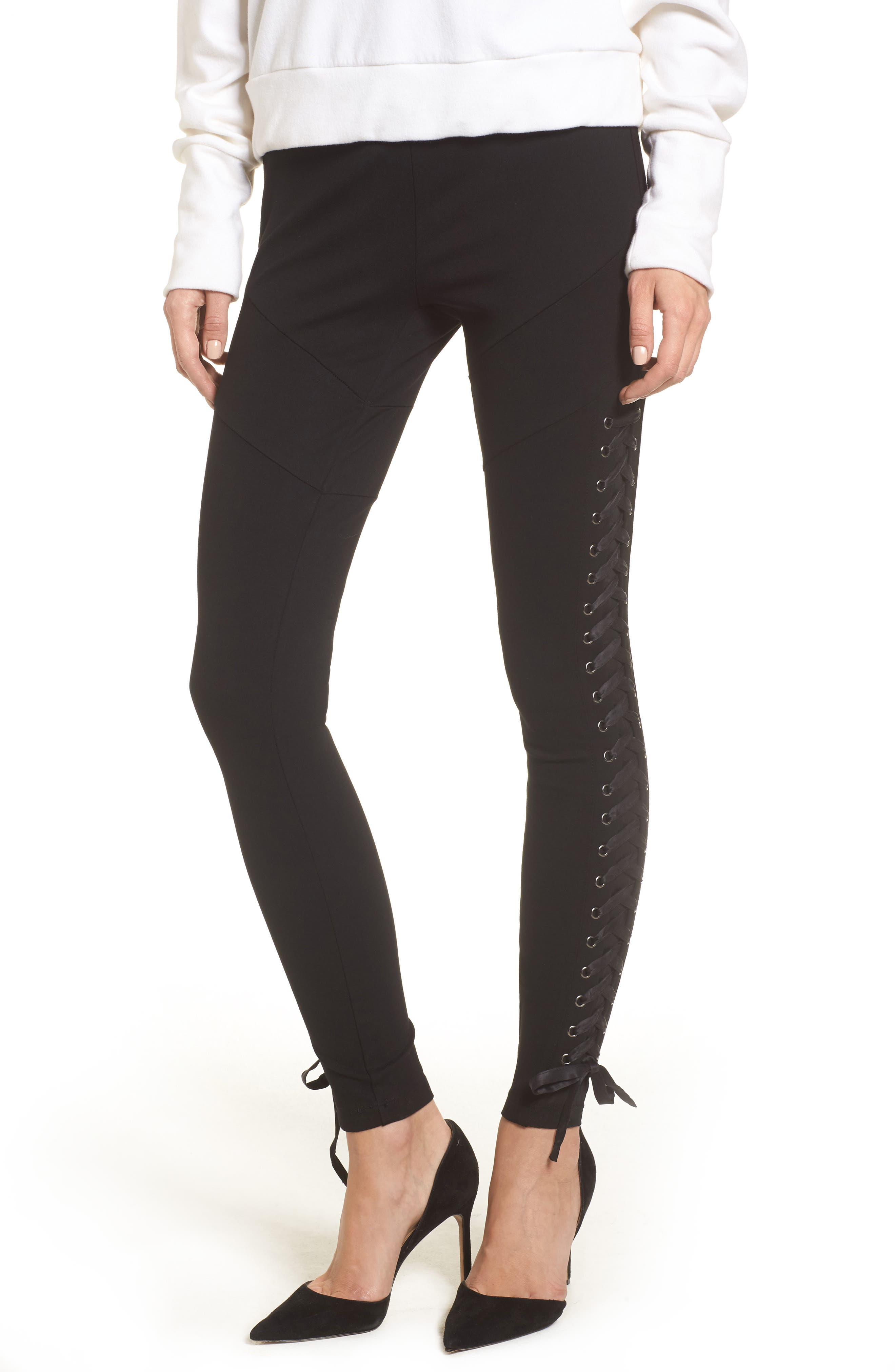 True Religion Brand Jeans Lace-Up Leggings