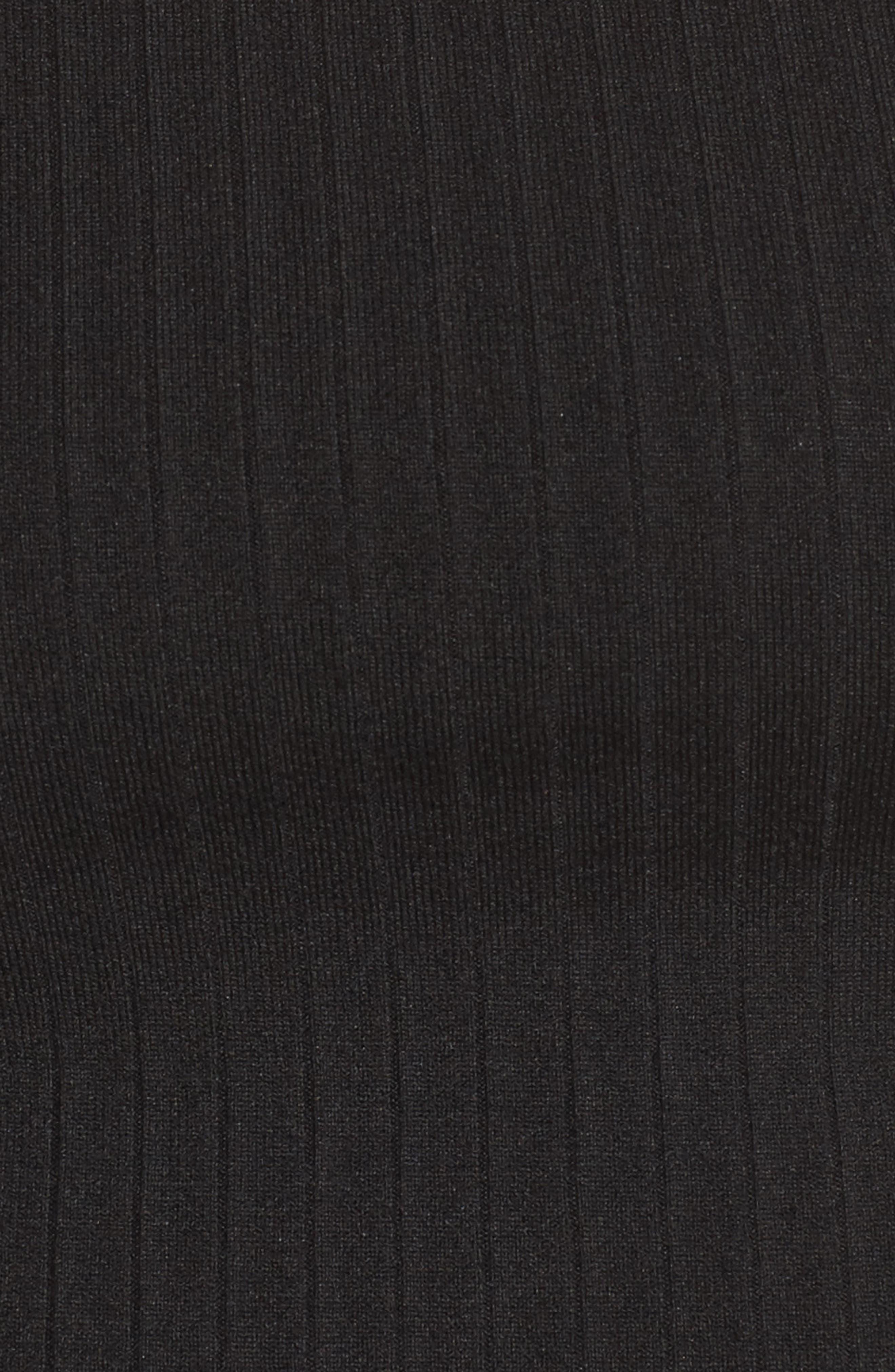 Benny Off the Shoulder Crop Top,                             Alternate thumbnail 6, color,                             Black