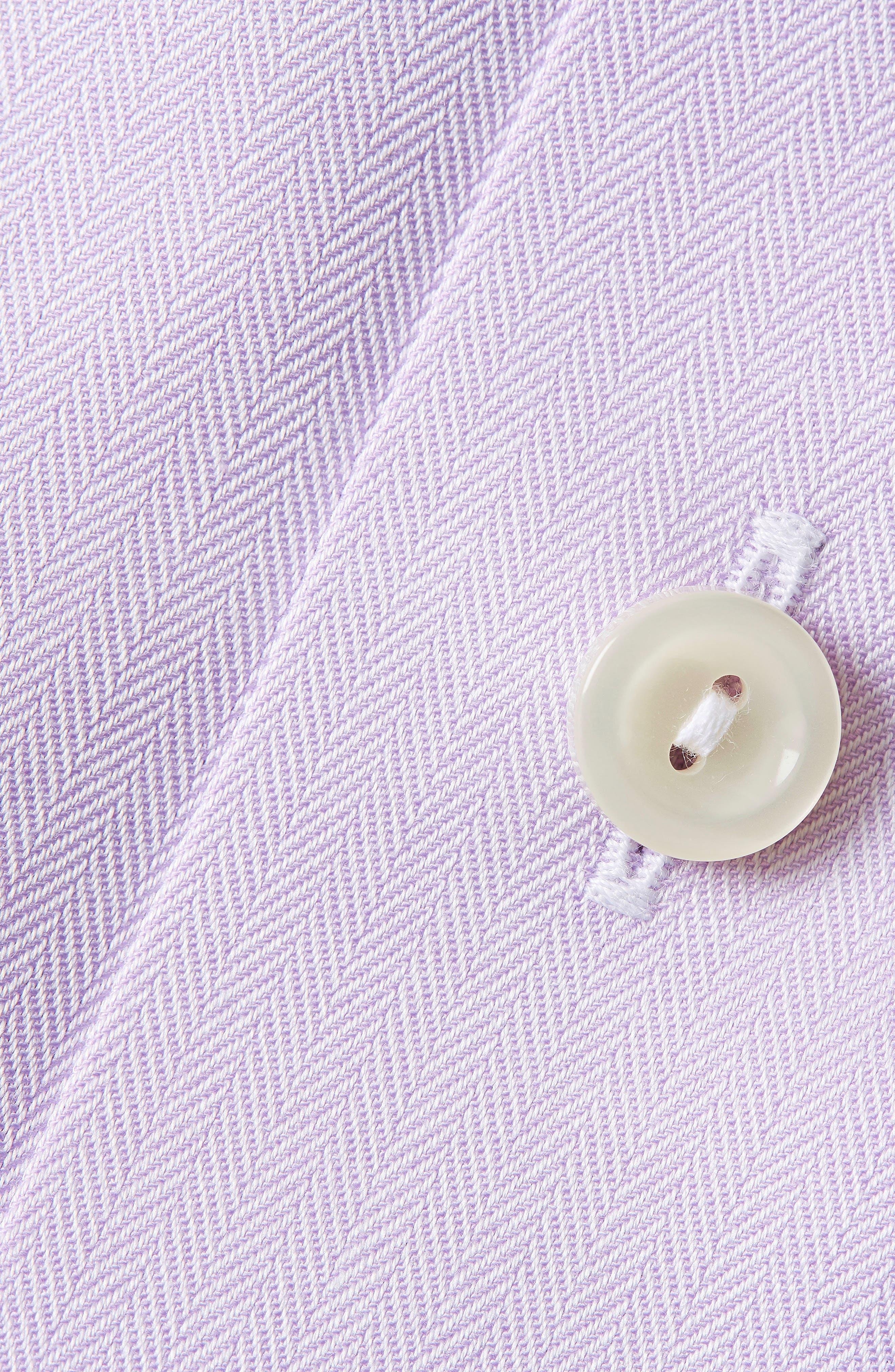 Alternate Image 3  - Eton Contemporary Fit Herringbone Dress Shirt