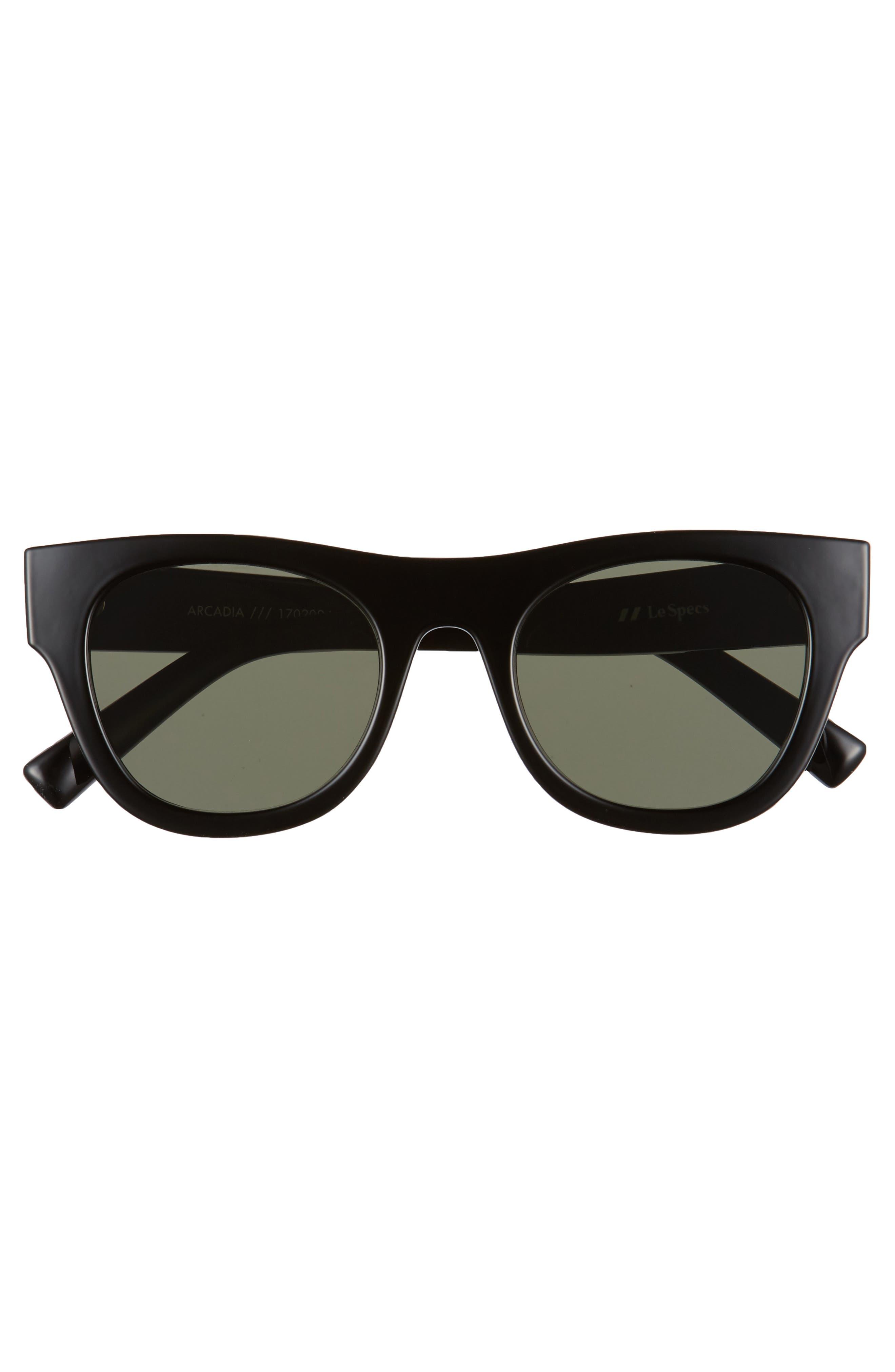 Arcadia 49mm Sunglasses,                             Alternate thumbnail 2, color,                             Black
