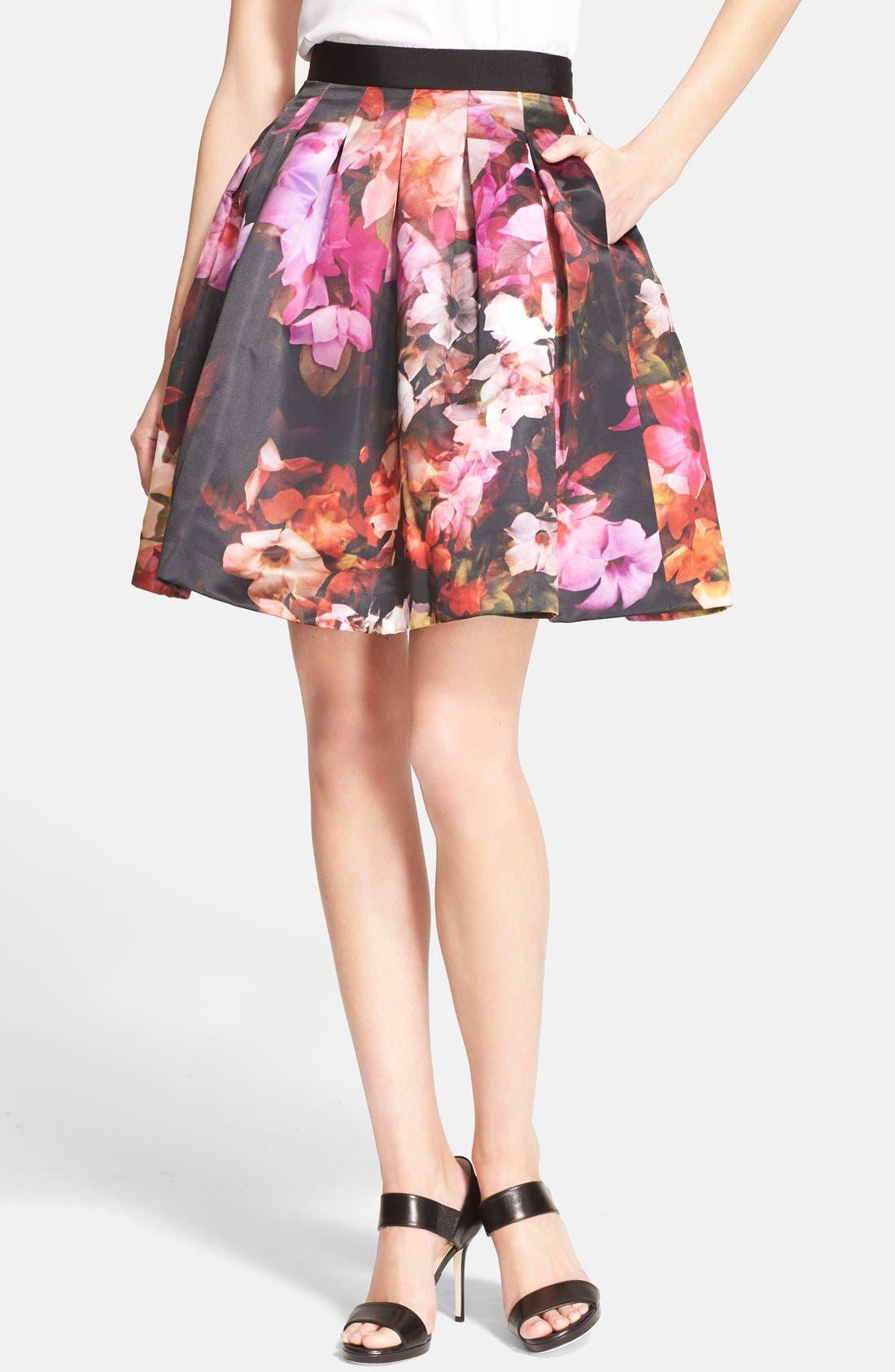 Alternate Image 1 Selected - Ted Baker London 'Abaigh' Floral Print Skirt