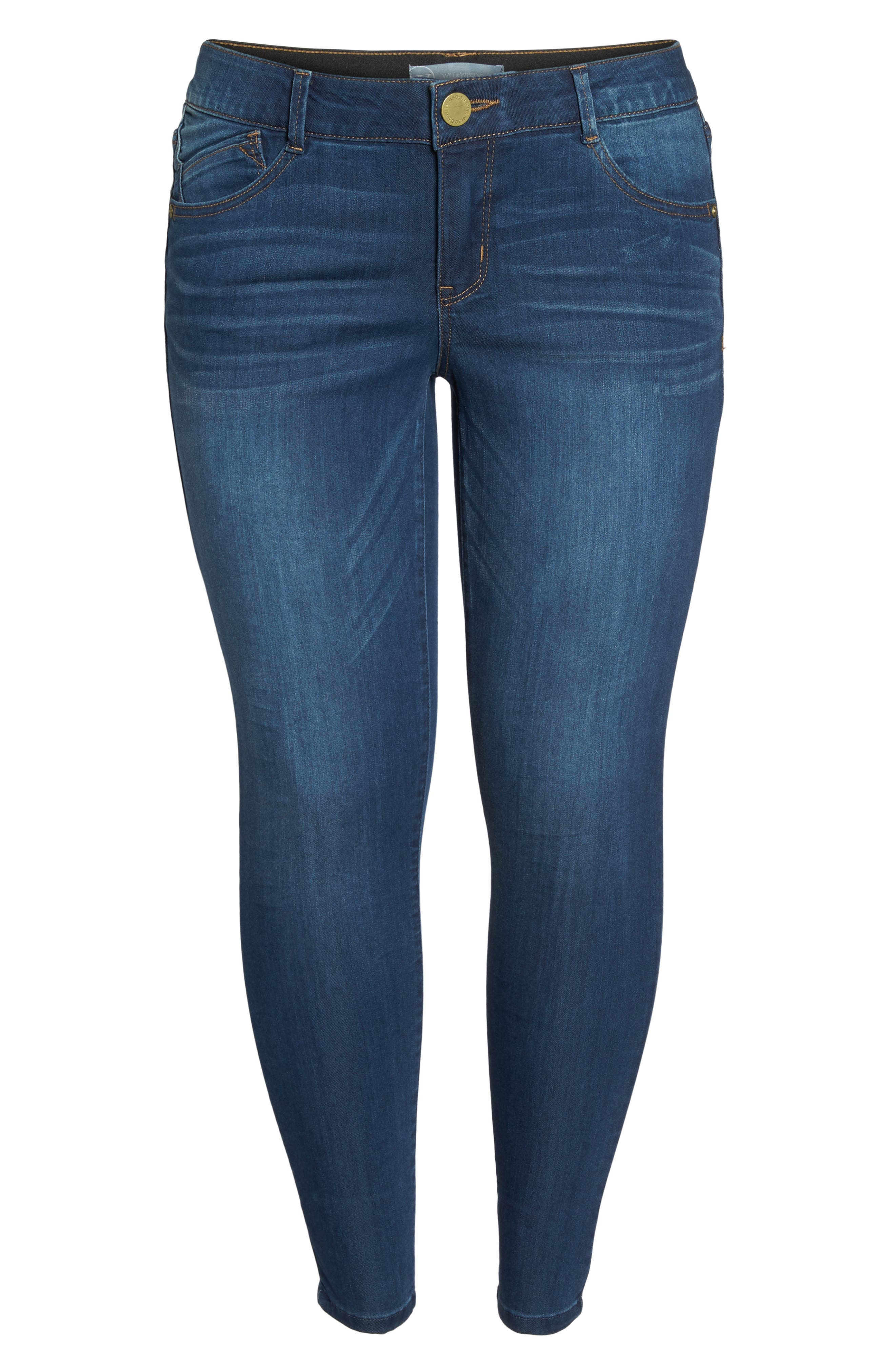 Alternate Image 6  - Wit & Wisdom Ab-solution Skinny Jeans (Plus Size) (Nordstrom Exclusive)