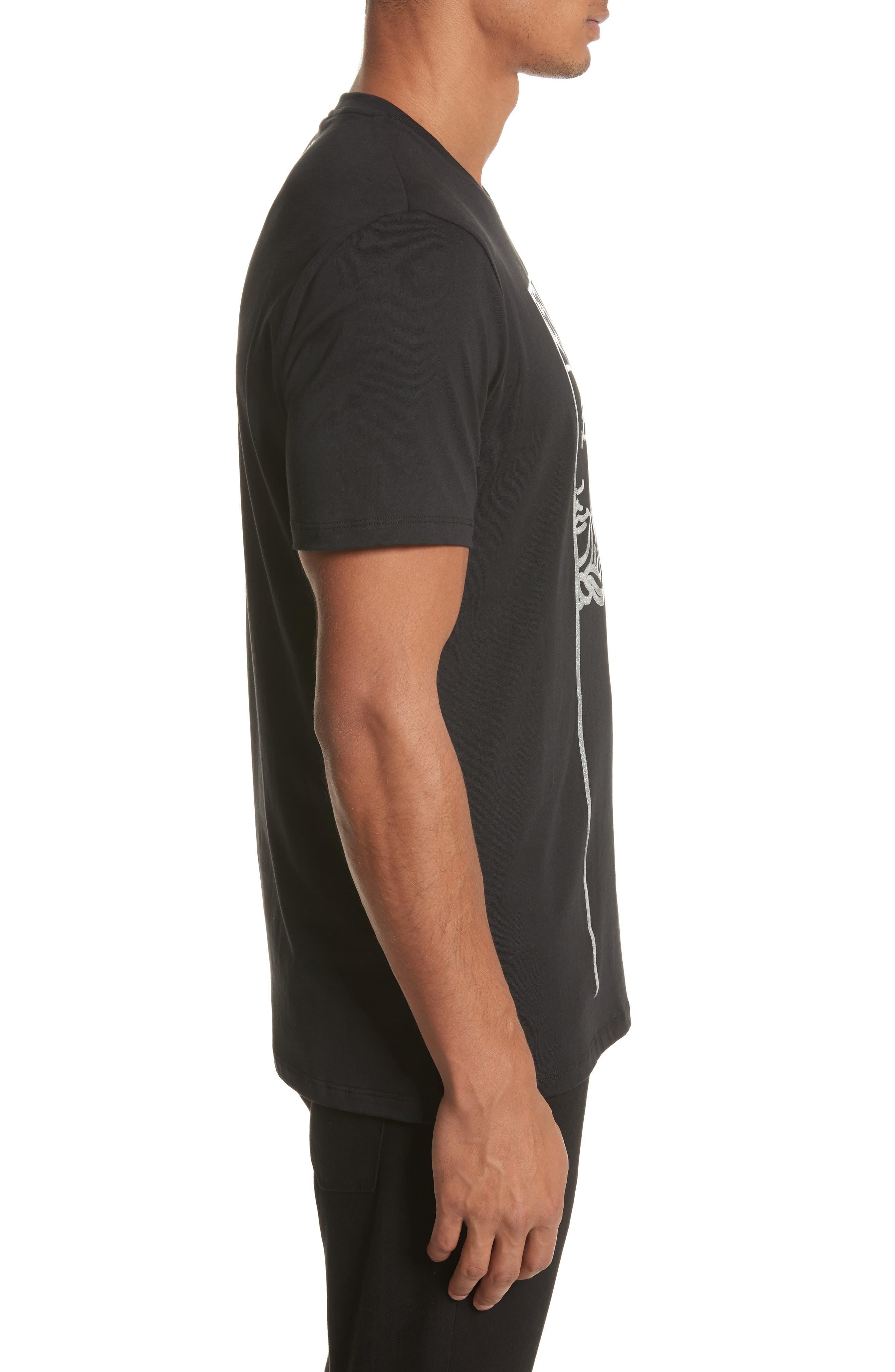Alternate Image 3  - Versace Collection Glitter Stamp Medusa Graphic T-Shirt