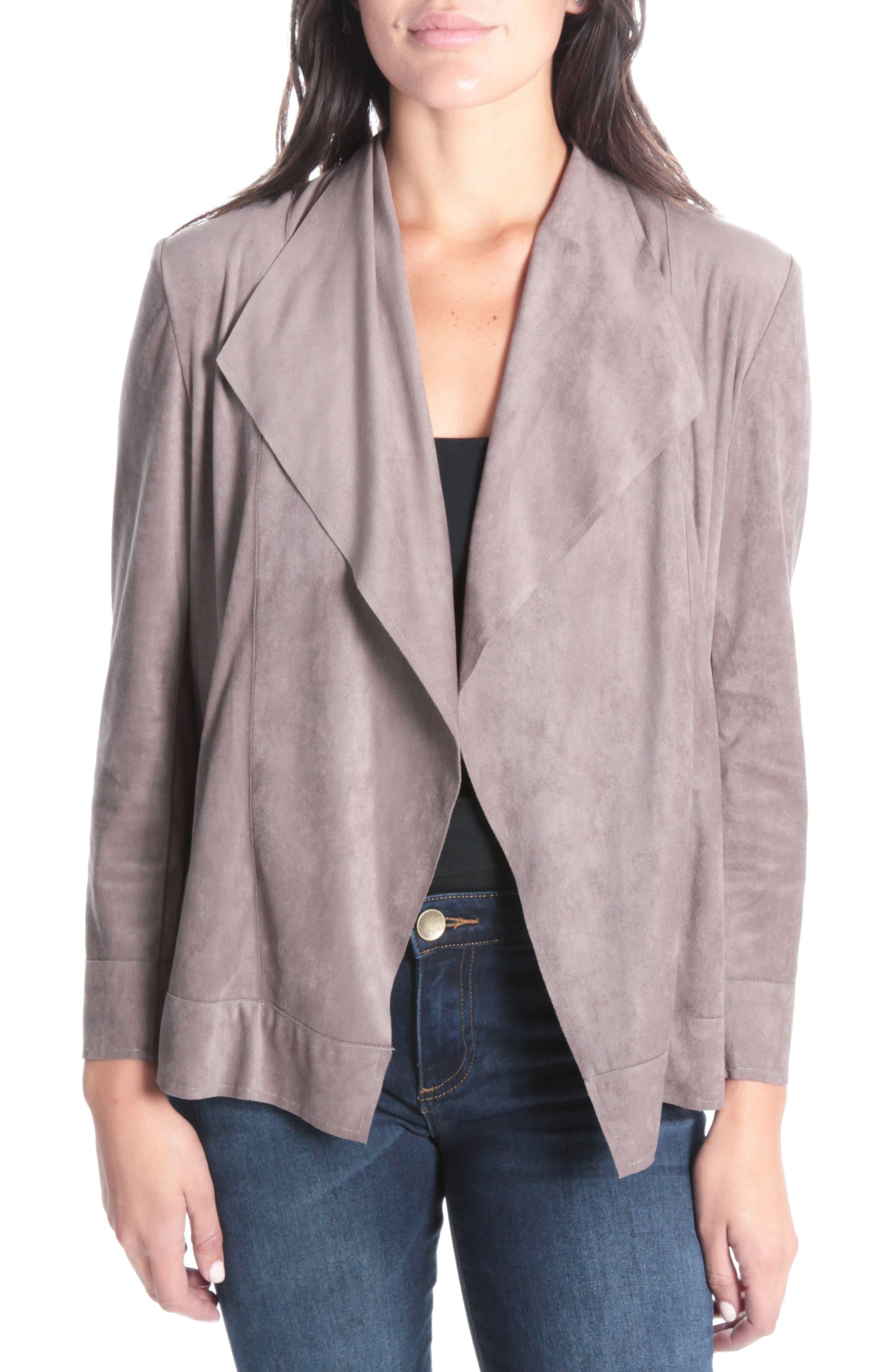 Patricia Drape Zipper Jacket,                         Main,                         color, Buff