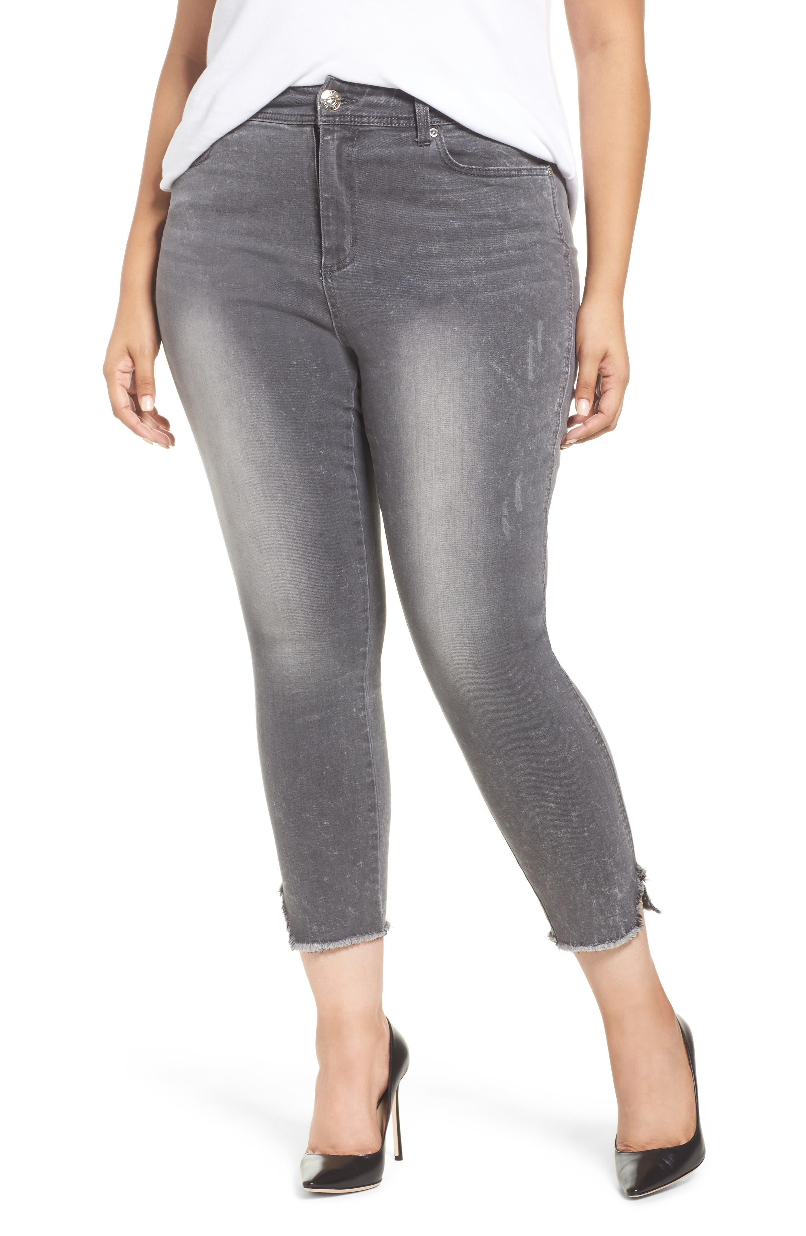 Main Image - Seven7 High Waist Ankle Skinny Jeans (Plus Size)
