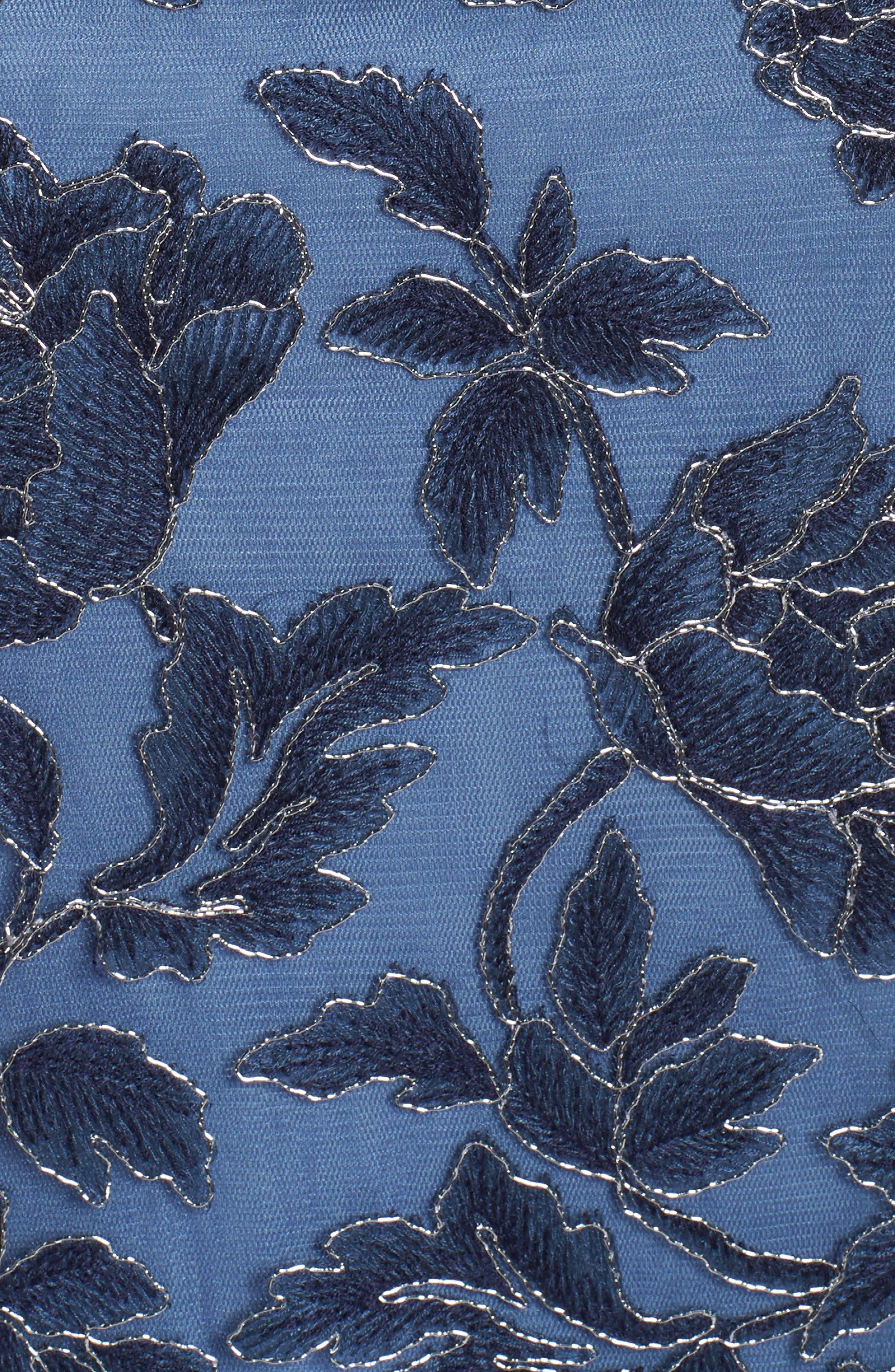 Alternate Image 5  - Tadashi Shoji Embroidered Mesh Gown (Regular & Petite)