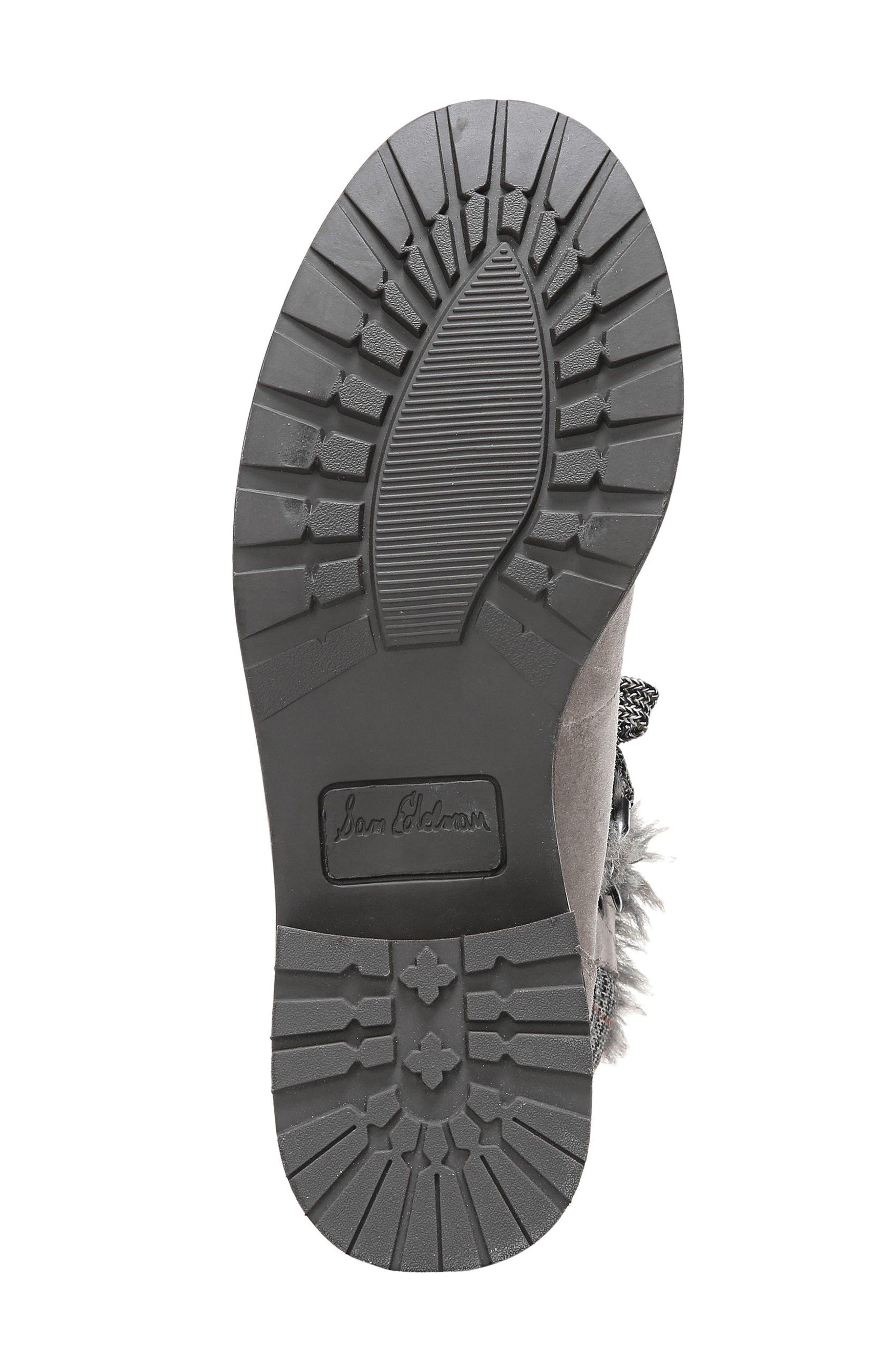 Darrah 2 Faux Fur Trim Boot,                             Alternate thumbnail 6, color,                             Grey Multi Suede