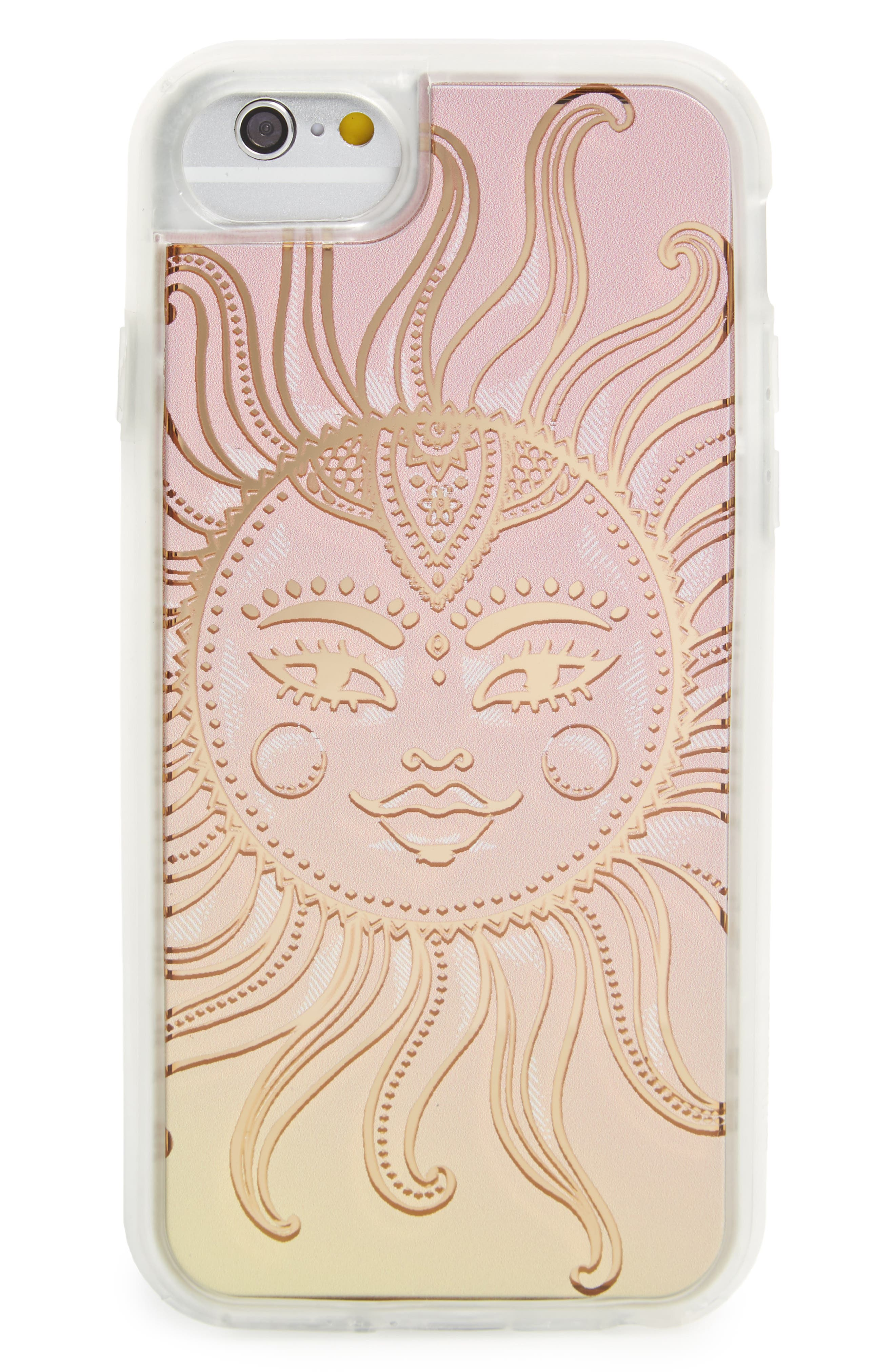 Sublime iPhone 6/6s/7 Case,                             Main thumbnail 1, color,                             Pink / Gold