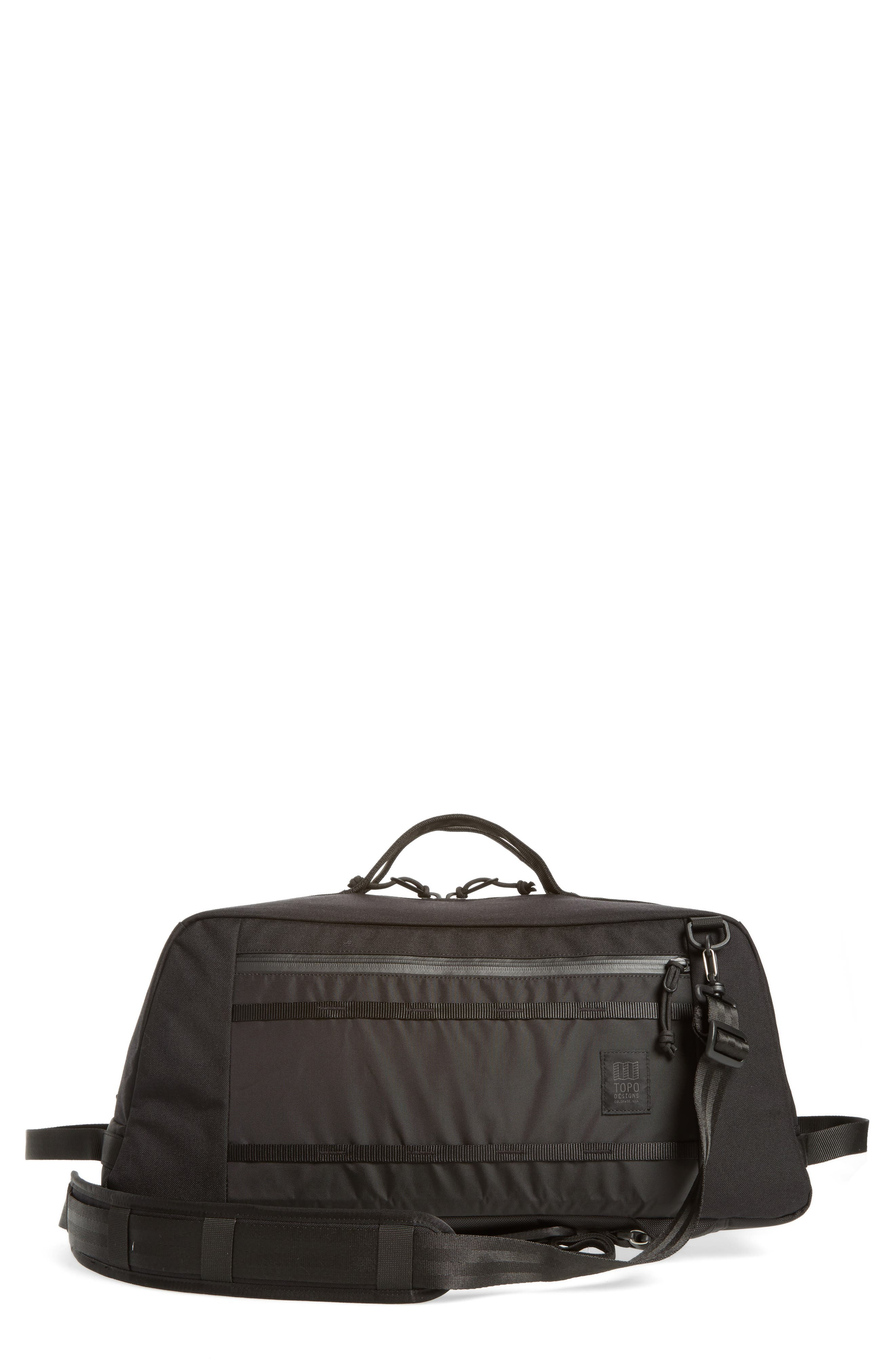 TOPO DESIGNS MOUNTAIN CONVERTIBLE DUFFEL BAG - BLACK