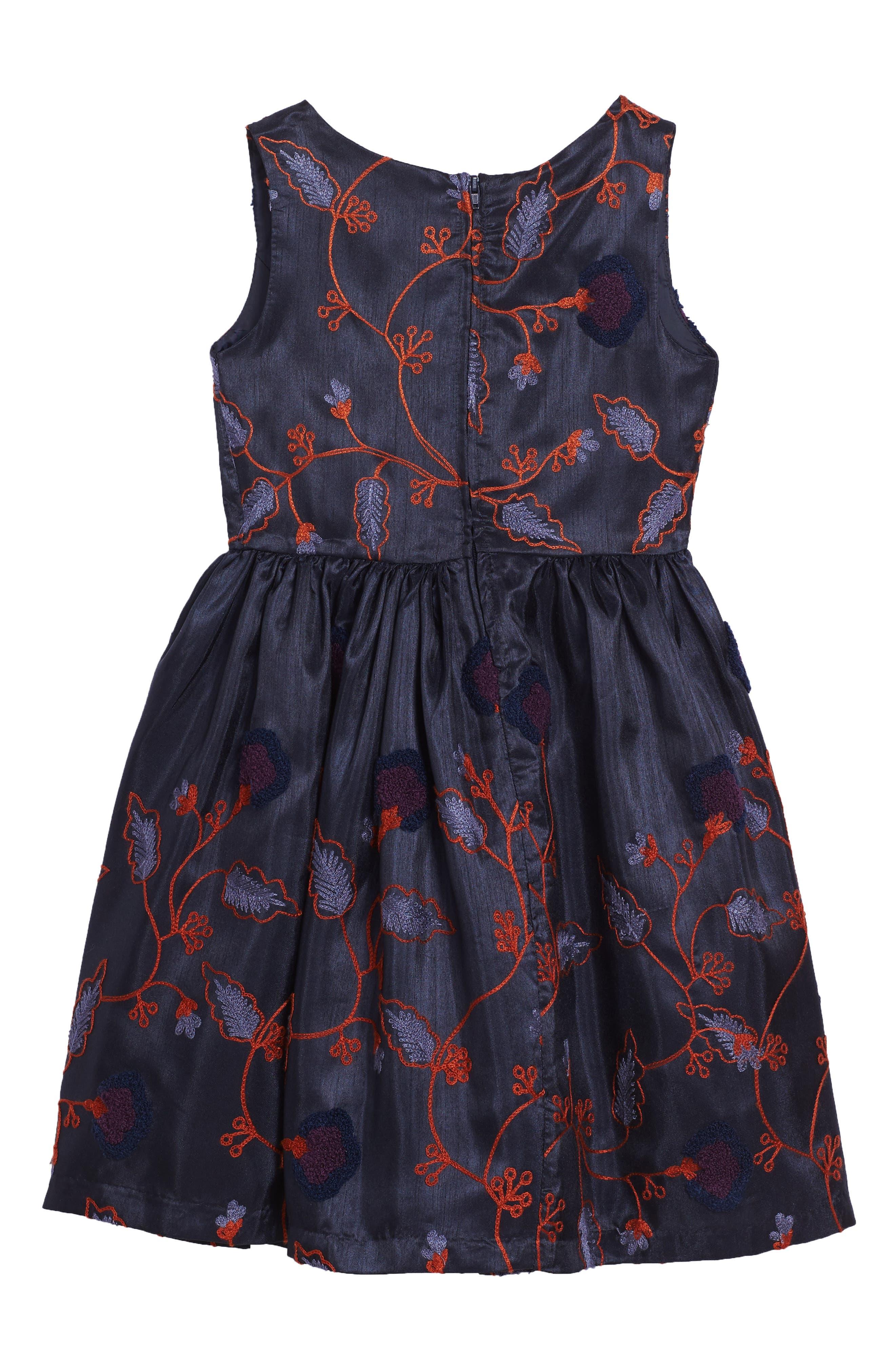 Alternate Image 2  - Frais Embroidered Floral Dress (Toddler Girls, Little Girls & Big Girls)