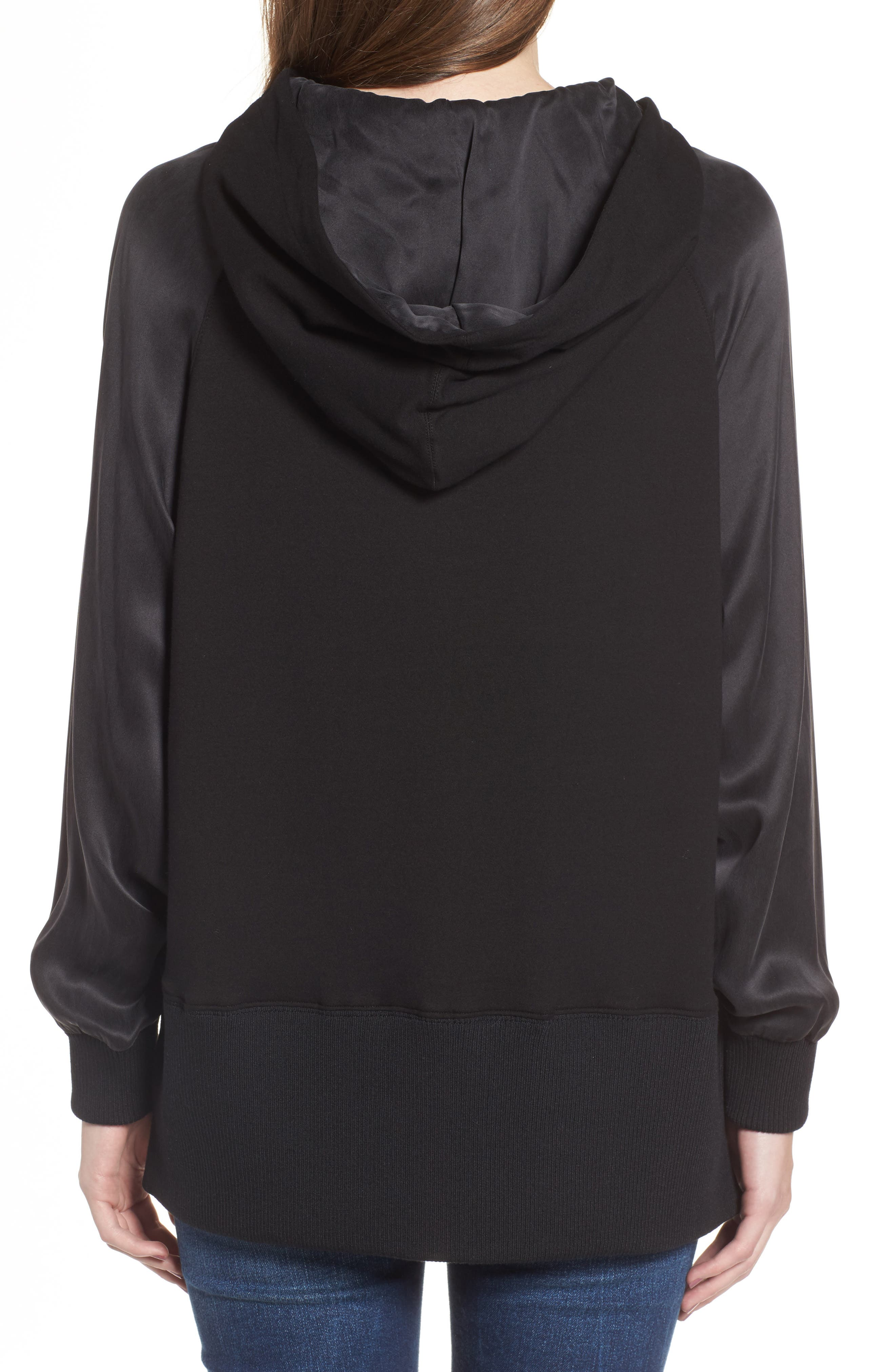 True Religion Lace-Up Pullover,                             Alternate thumbnail 2, color,                             Black