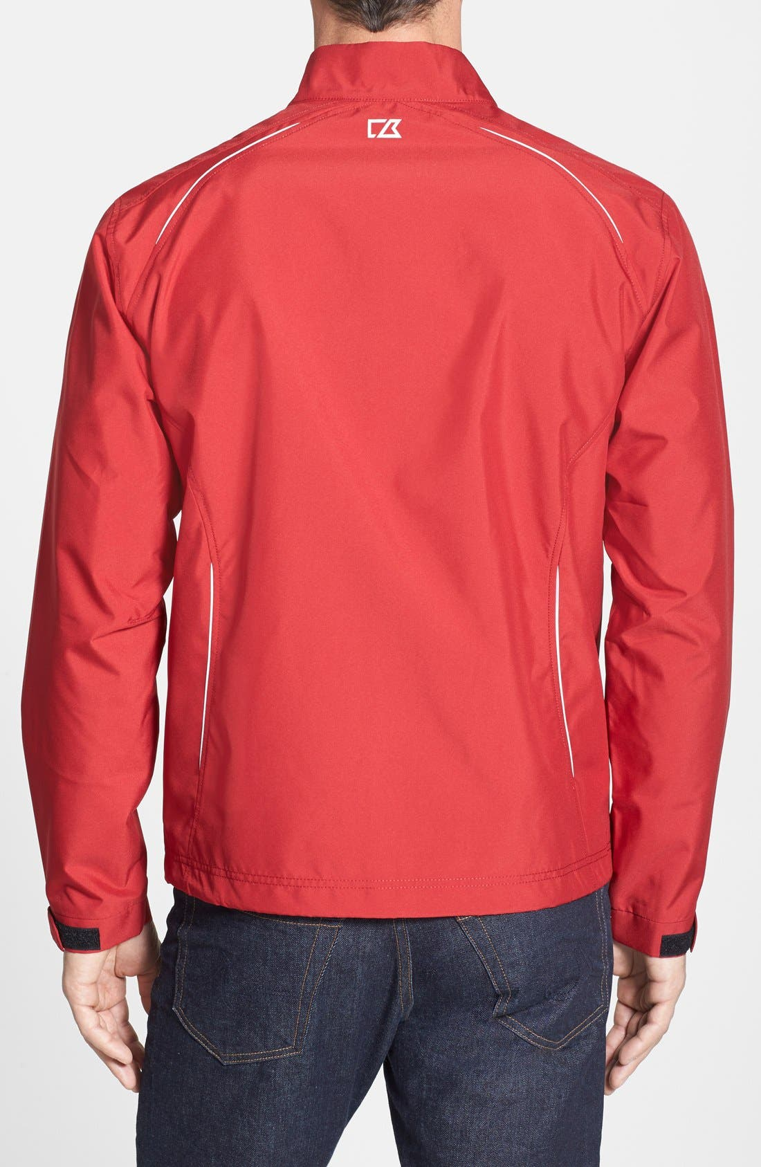 Alternate Image 2  - Cutter & Buck San Francisco 49ers - Beacon WeatherTec Wind & Water Resistant Jacket