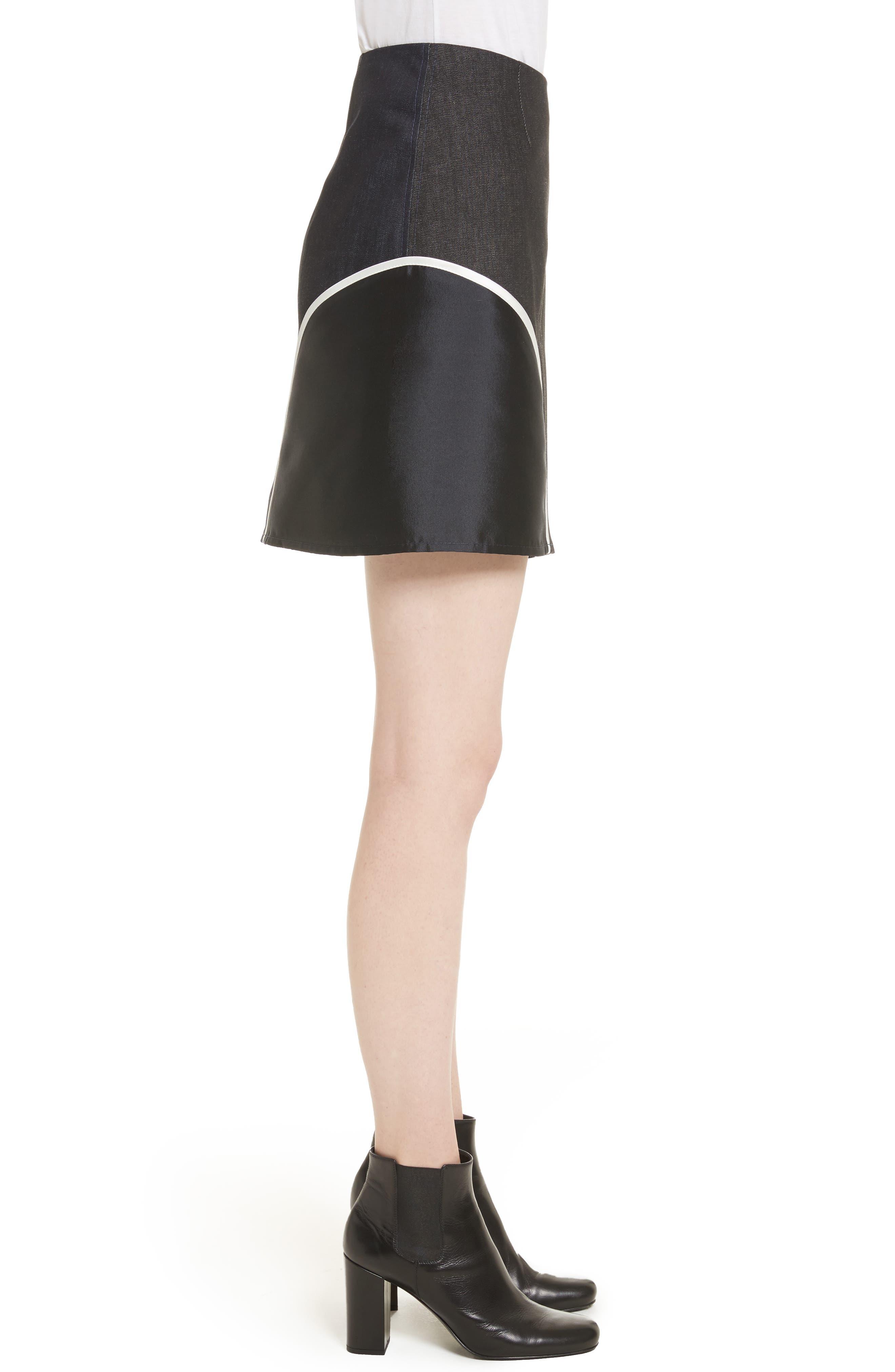 Alternate Image 4  - Harvey Faircloth Roberto Mixed Media Skirt