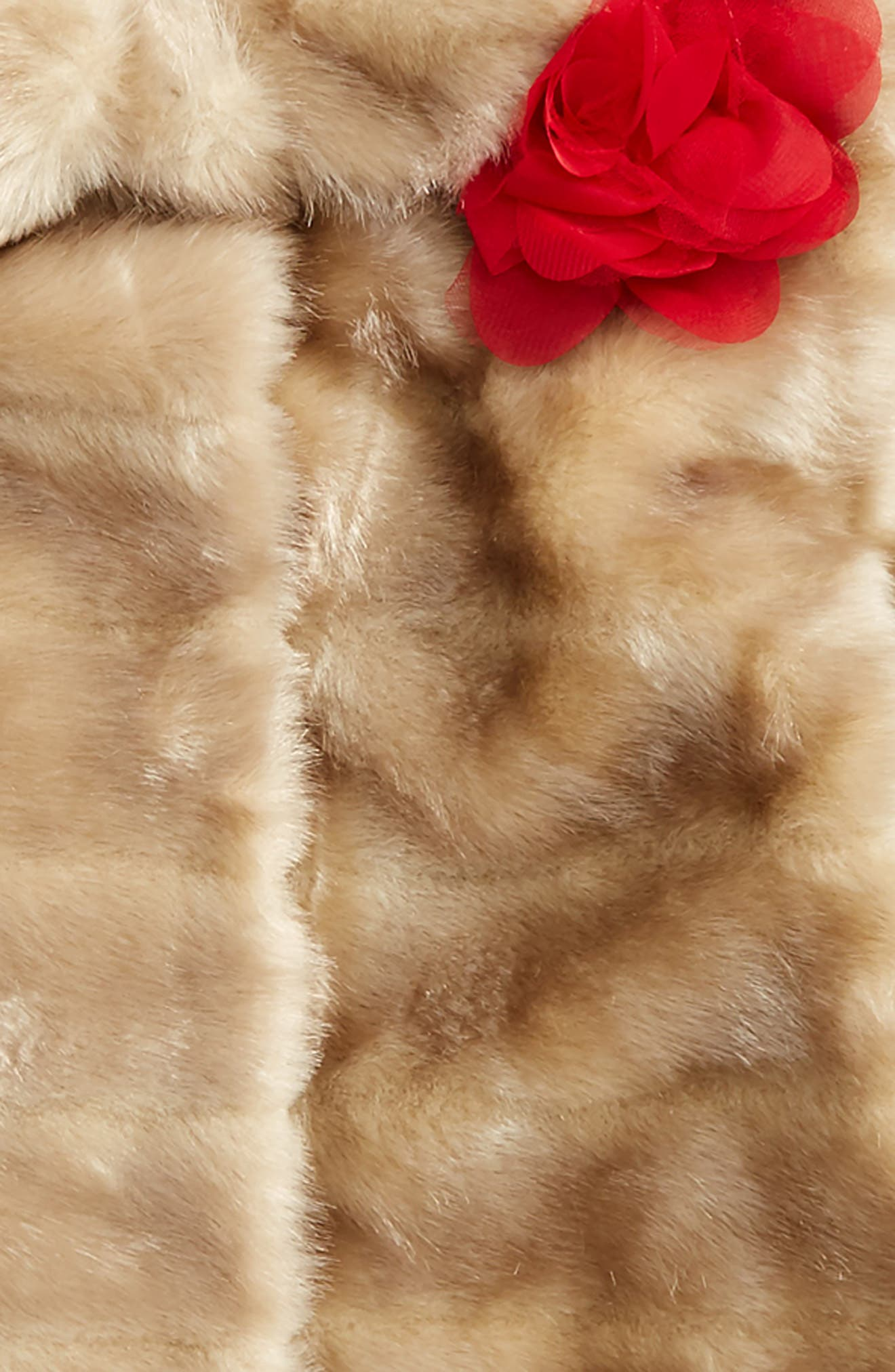 Alternate Image 2  - kate spade new york faux mink fur coat (Toddler Girls & Little Girls)