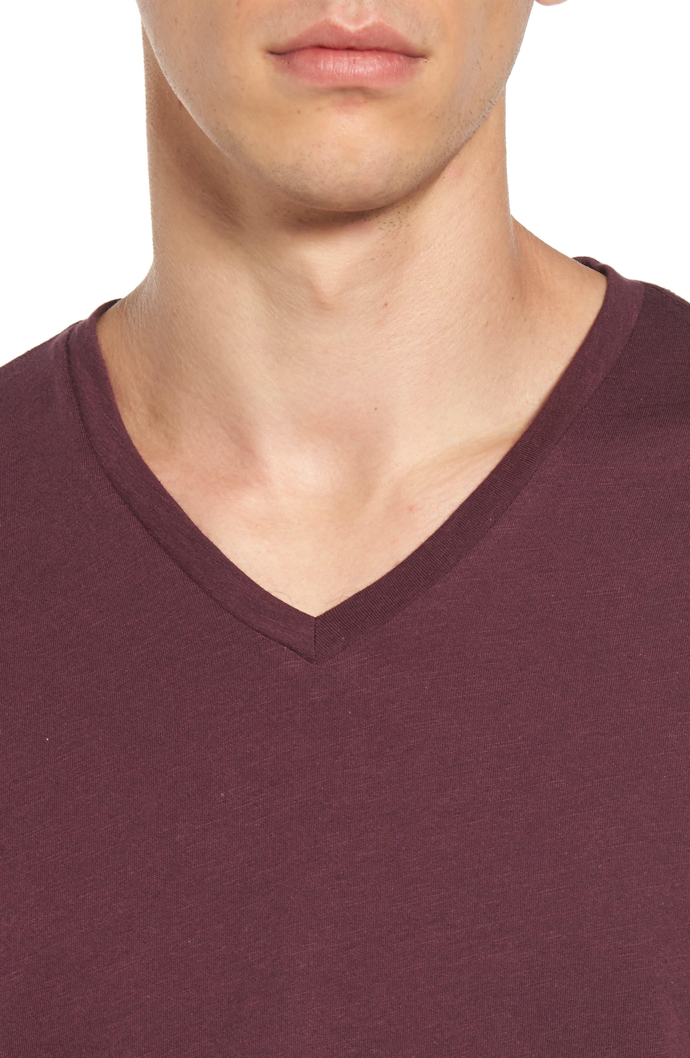 Alternate Image 4  - The Rail Slub Cotton V-Neck T-Shirt (2 for $30)