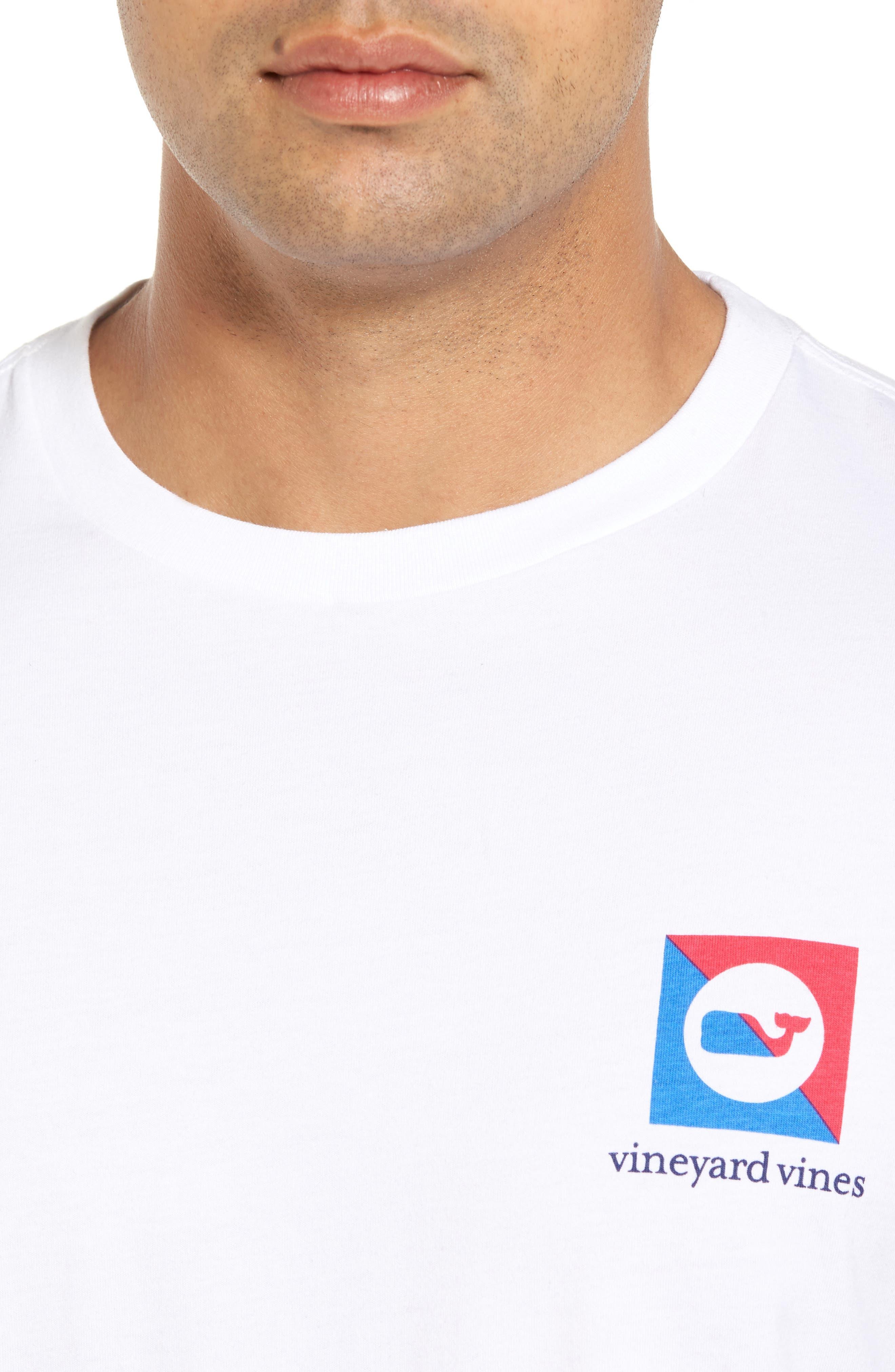 Split Burgee Logo T-Shirt,                             Alternate thumbnail 4, color,                             White Cap