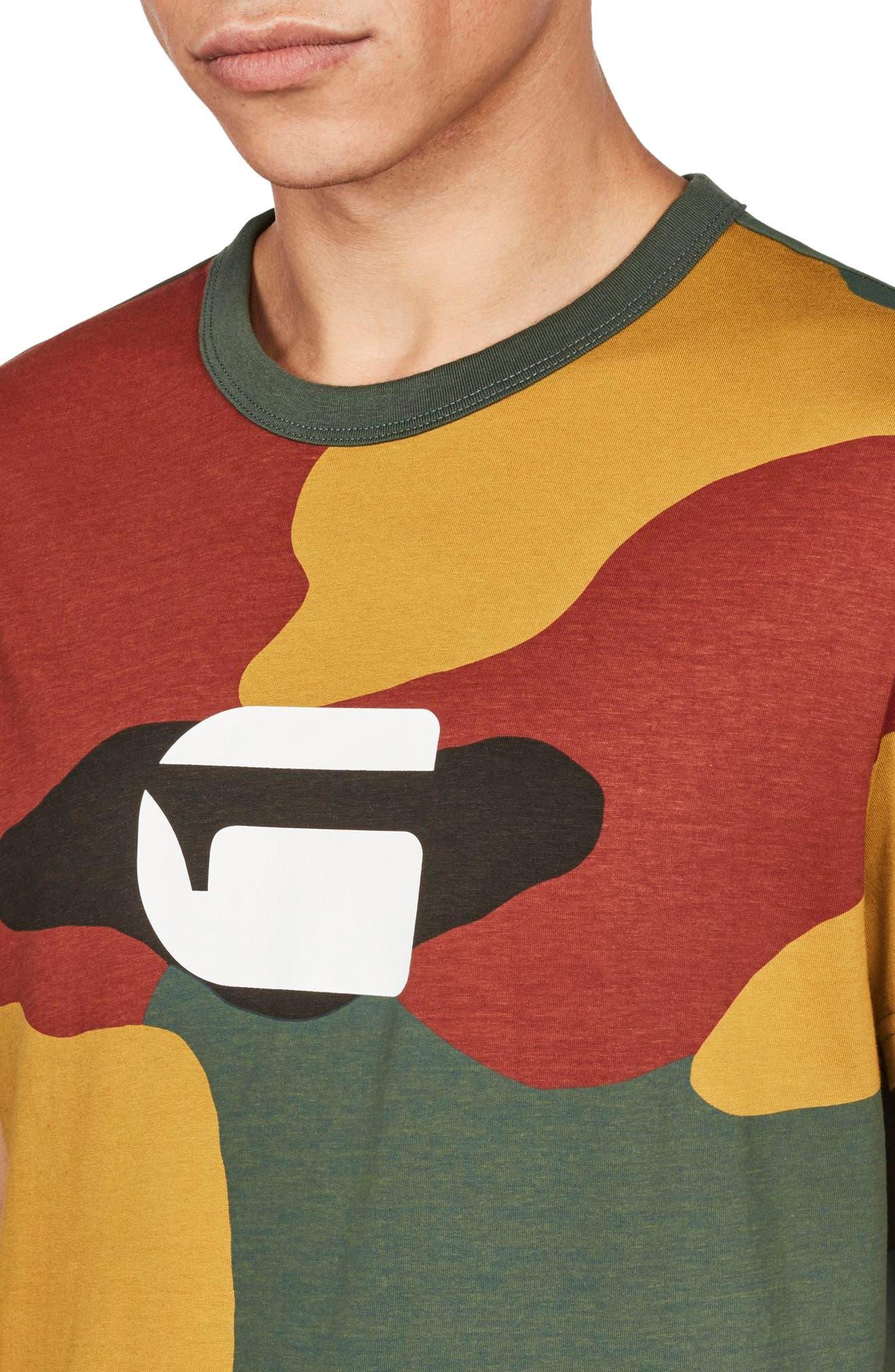 Jigsaw Camo T-Shirt,                             Alternate thumbnail 4, color,                             White