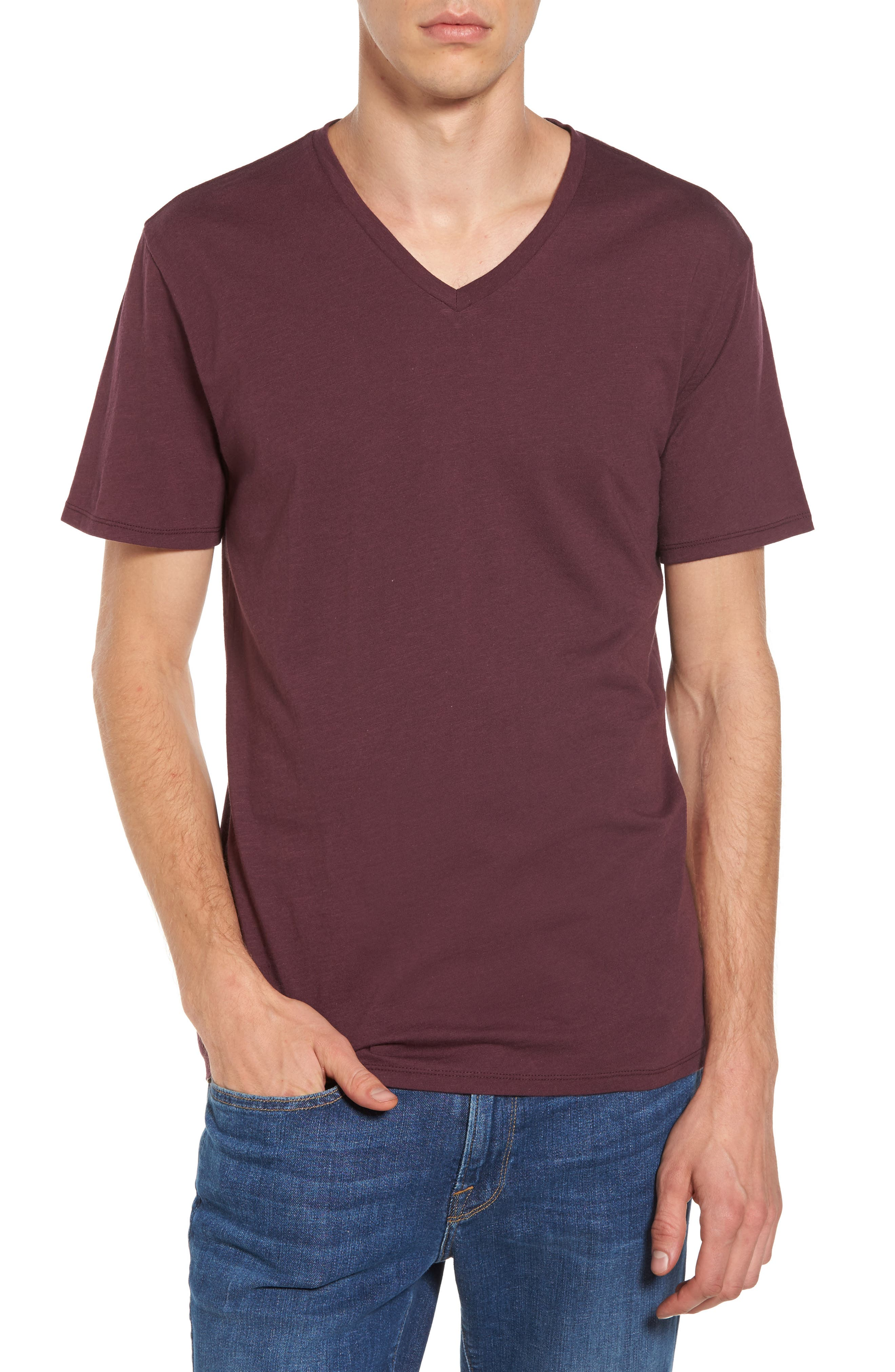 Alternate Image 1 Selected - The Rail Slub Cotton V-Neck T-Shirt (2 for $30)