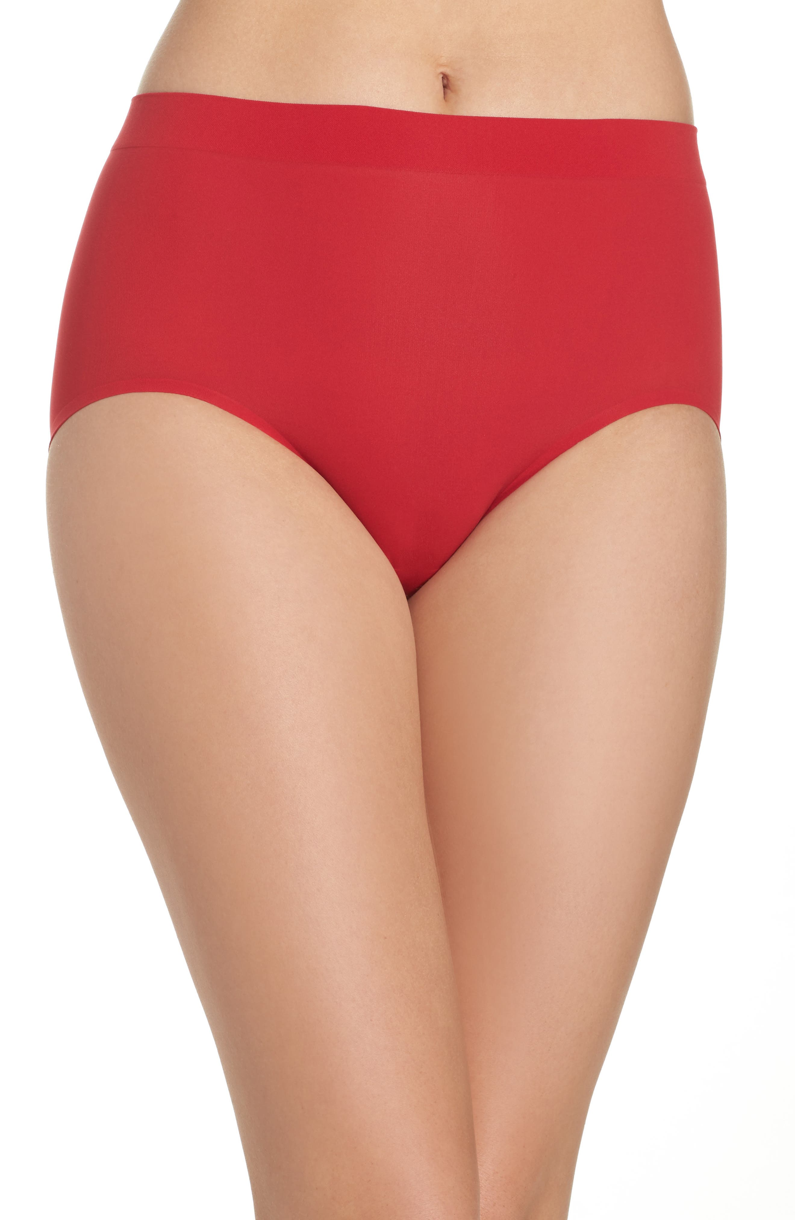 'Skinsense' Seamless Briefs,                         Main,                         color, Tango Red